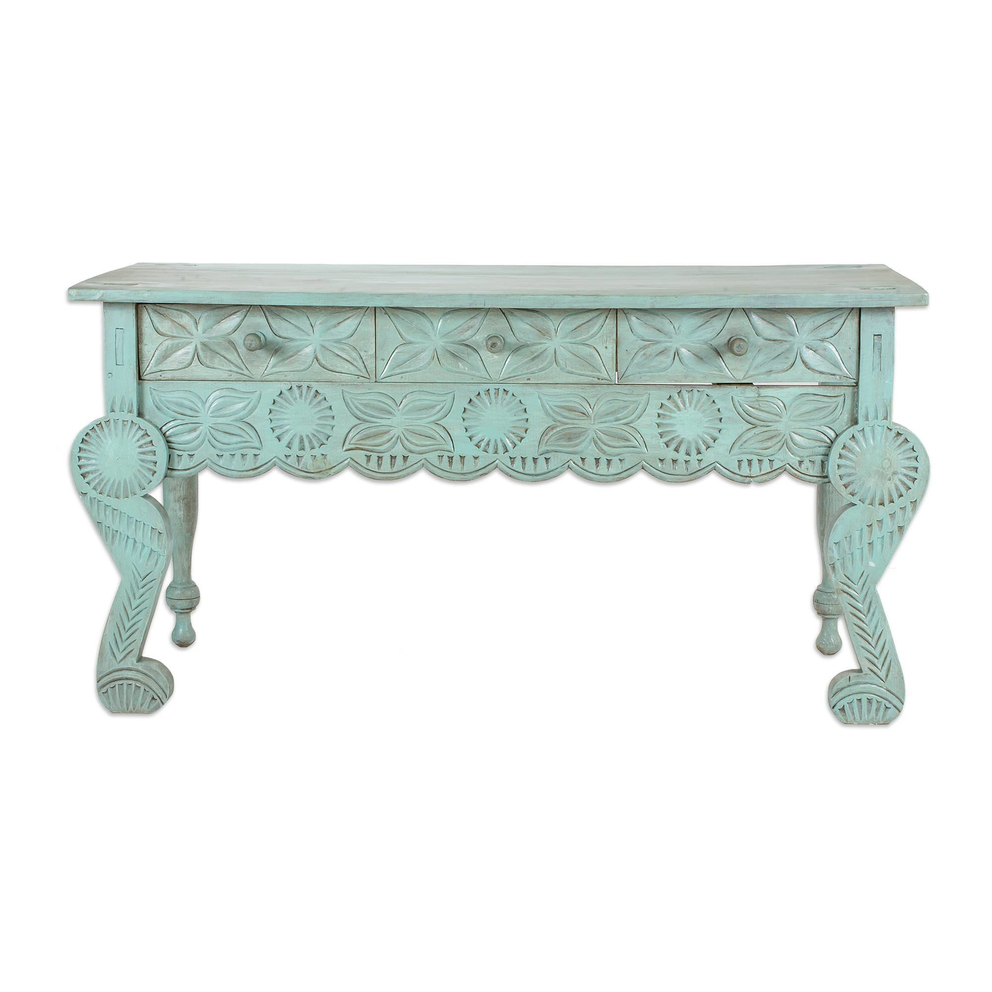 Bloomsbury Market Liddel Elegant Patina Wood Console Table | Wayfair In Mix Patina Metal Frame Console Tables (View 17 of 30)