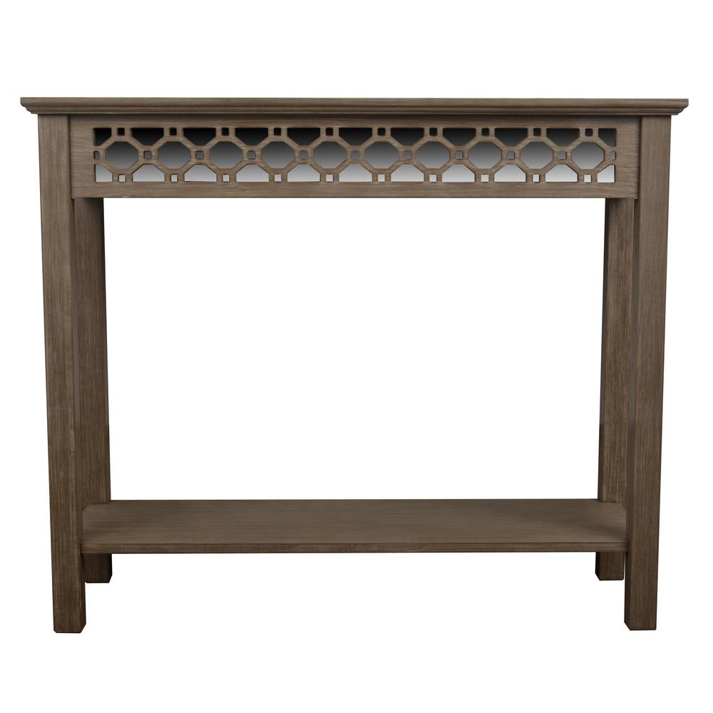 Blue - Console Tables - Accent Tables - The Home Depot for Natural Wood Mirrored Media Console Tables (Image 6 of 30)