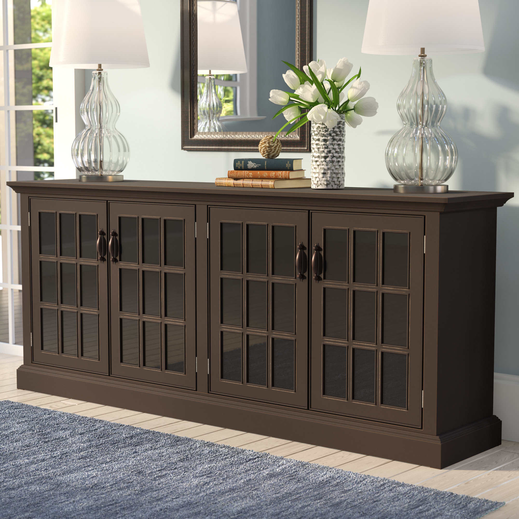 Blue Tv Stands You'll Love | Wayfair Inside Century Sky 60 Inch Tv Stands (View 24 of 30)