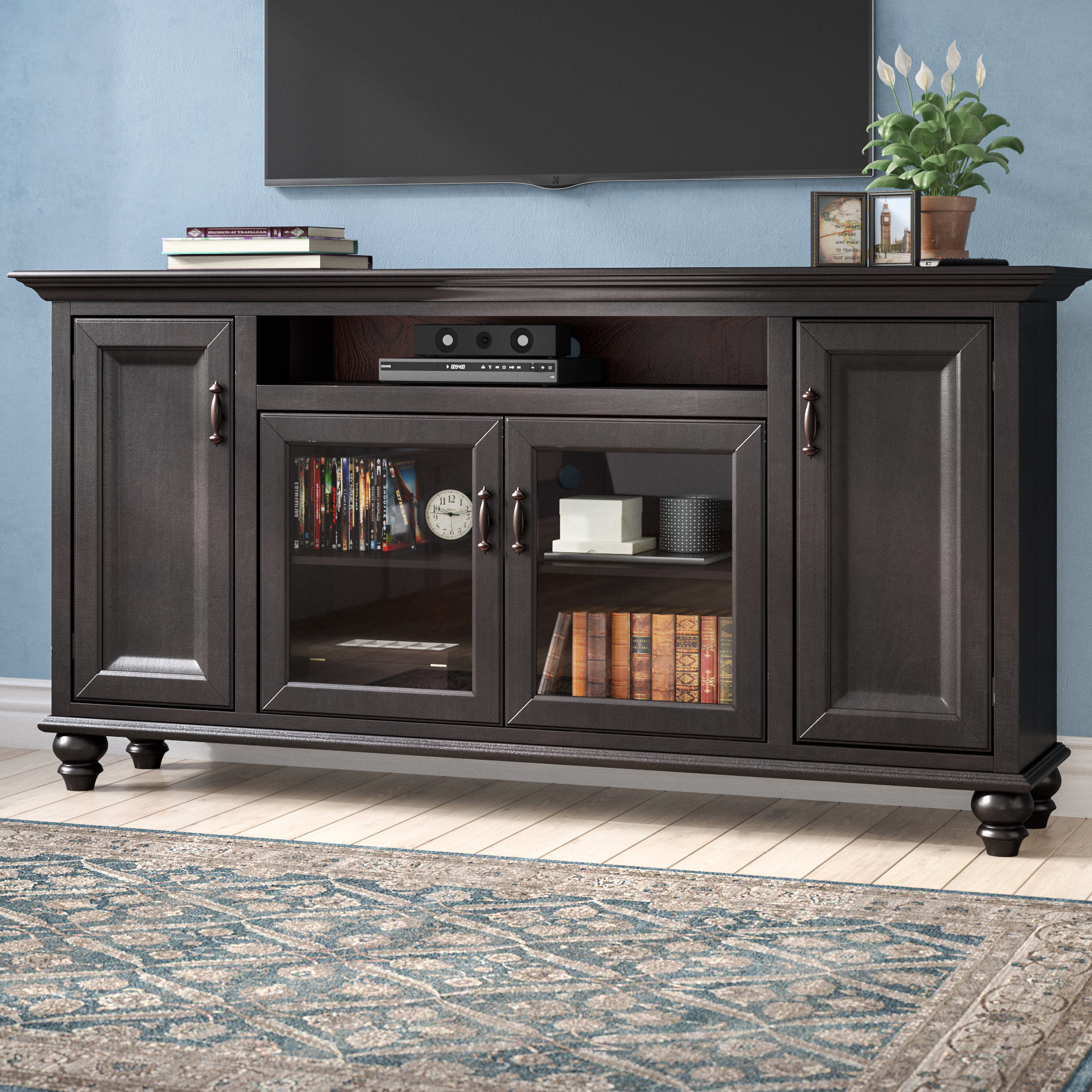 Blue Tv Stands You'll Love | Wayfair Pertaining To Century Sky 60 Inch Tv Stands (View 18 of 30)
