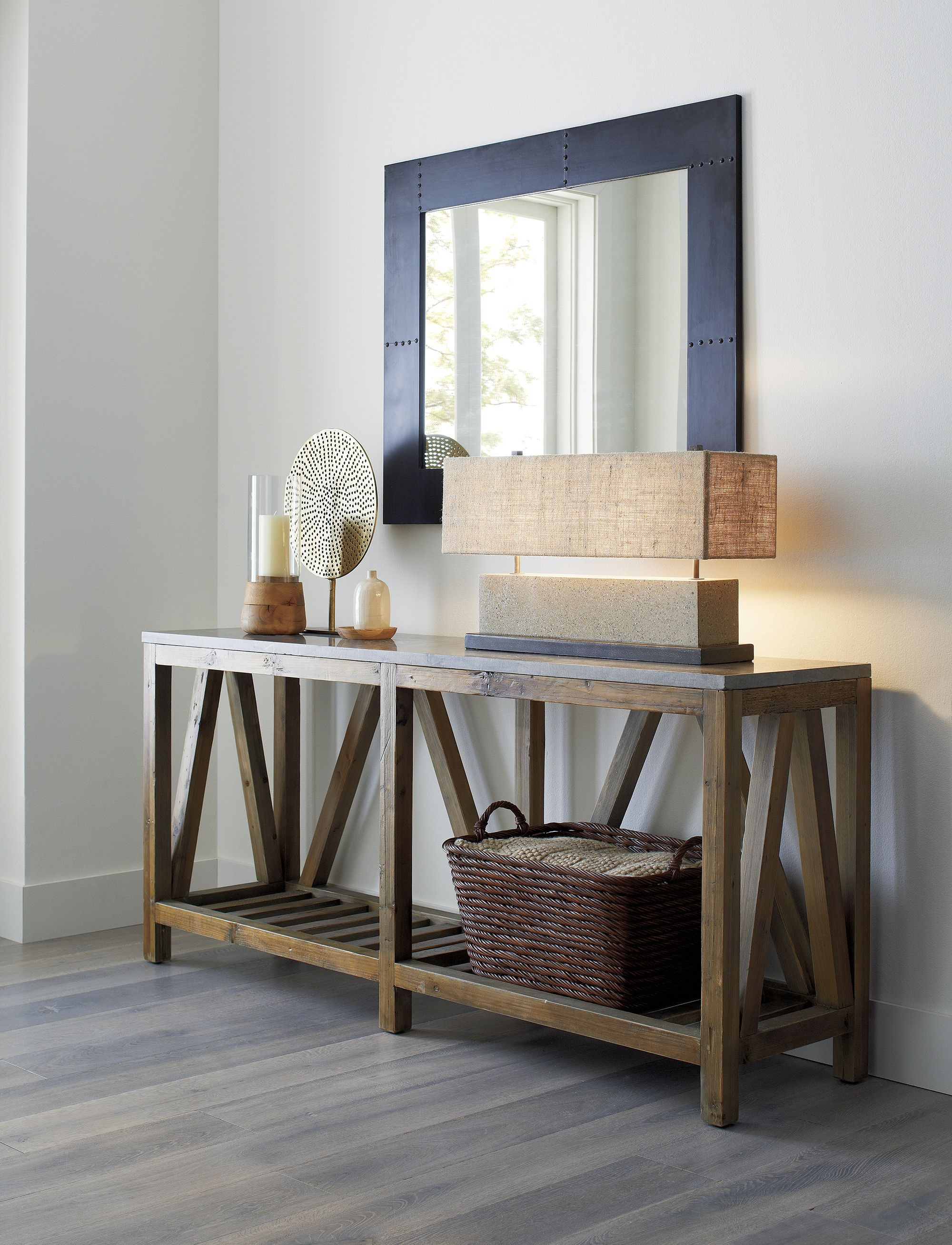 Featured Photo of Natural Wood Mirrored Media Console Tables