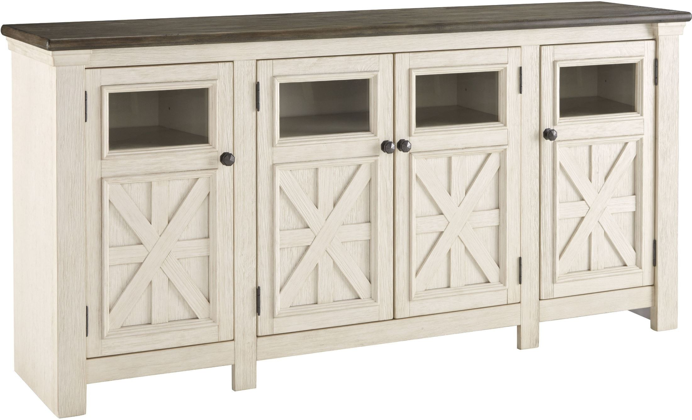 Bolanburg Weathered Gray Extra Large Tv Stand From Ashley | Coleman Within Vista 60 Inch Tv Stands (View 14 of 30)