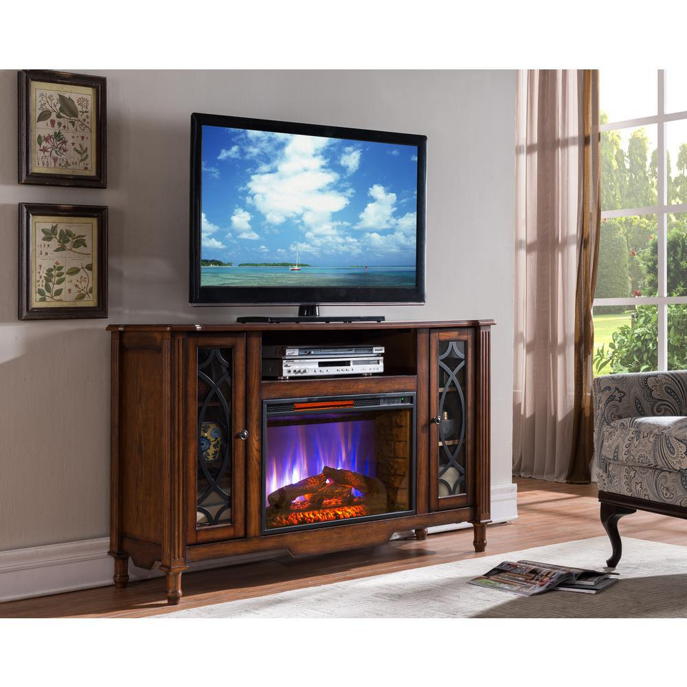 Bold Flame Valencia 55 In. Media Console Electric Fireplace Tv Stand intended for Canyon 64 Inch Tv Stands (Image 3 of 30)