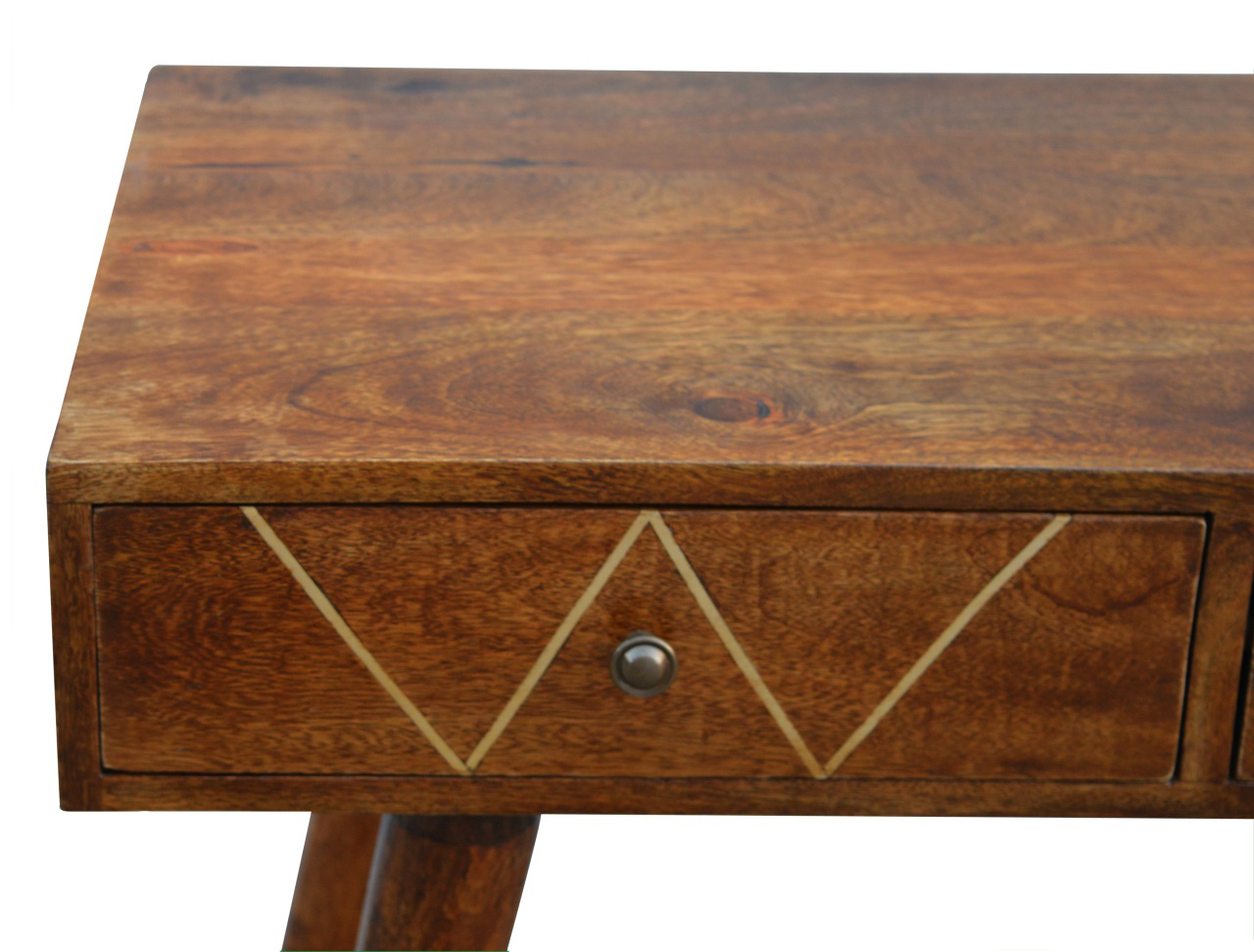 Brass Inlay 2 Drawer Console Tableartisan Furniture In Console In Orange Inlay Console Tables (View 9 of 30)
