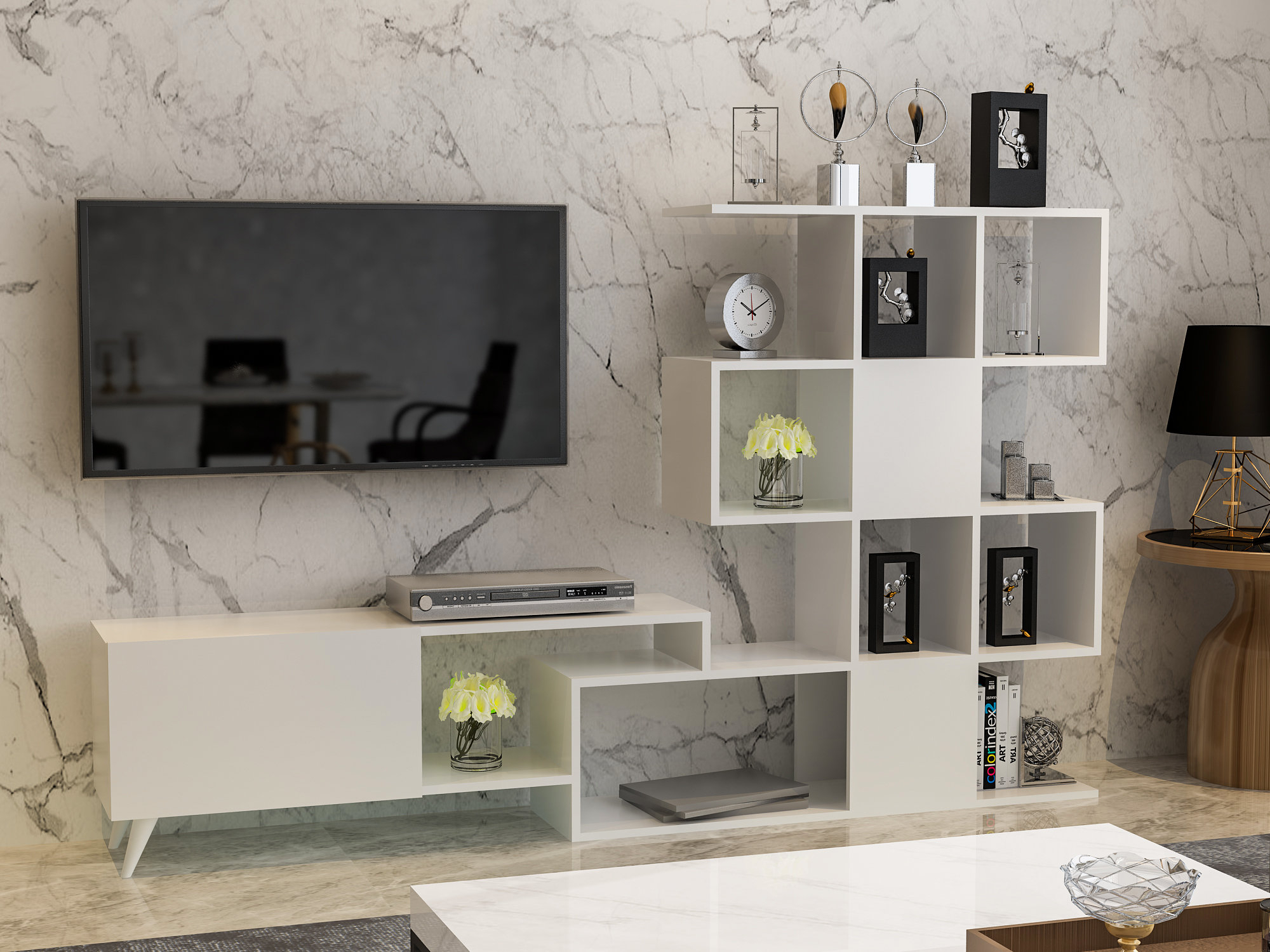 """Brayden Studio Washtenaw Tv Stand For Tvs Up To 60"""" & Reviews 
