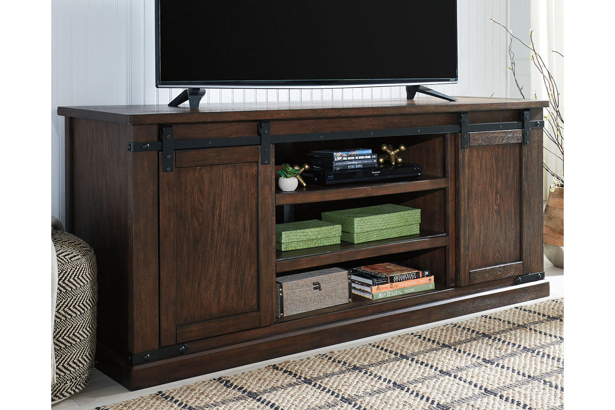 Budmore Tv Stand | Ashley Furniture Homestore | Apartment Buys within Sinclair Grey 64 Inch Tv Stands (Image 7 of 30)