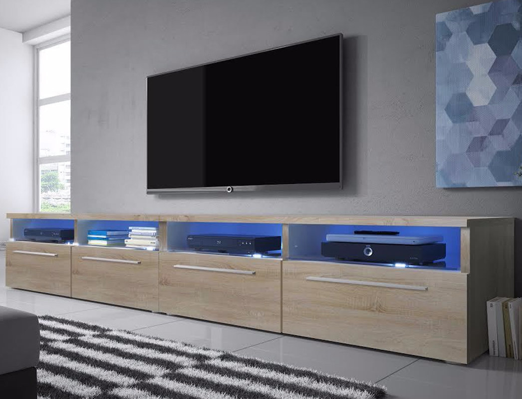 Built-In Lighting Tv Stands & Entertainment Units You'll Love throughout Valencia 70 Inch Tv Stands (Image 3 of 30)