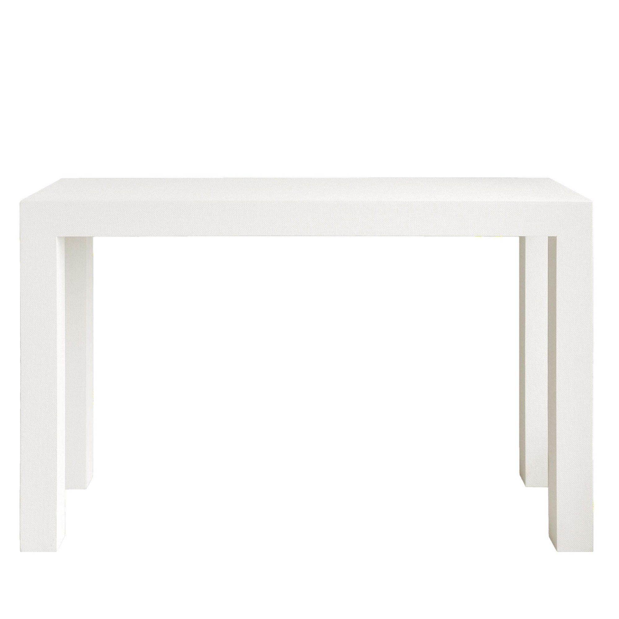 Bungalow 5 Parsons Console In White | White Texture, Consoles And in Parsons White Marble Top & Brass Base 48X16 Console Tables (Image 3 of 30)