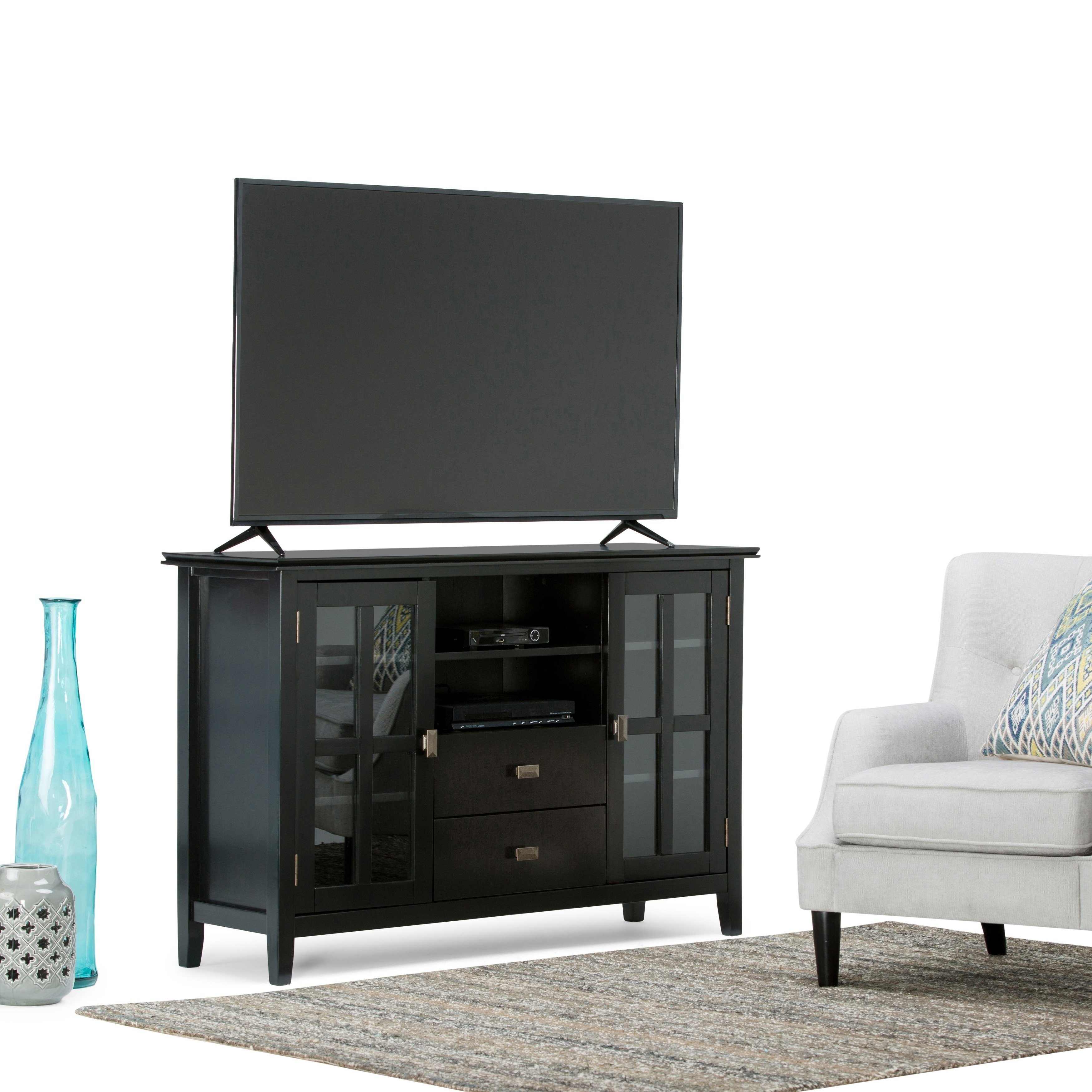 Buy Black, 42 - 60 Inches Tv Stands & Entertainment Centers Online within Canyon 64 Inch Tv Stands (Image 5 of 30)