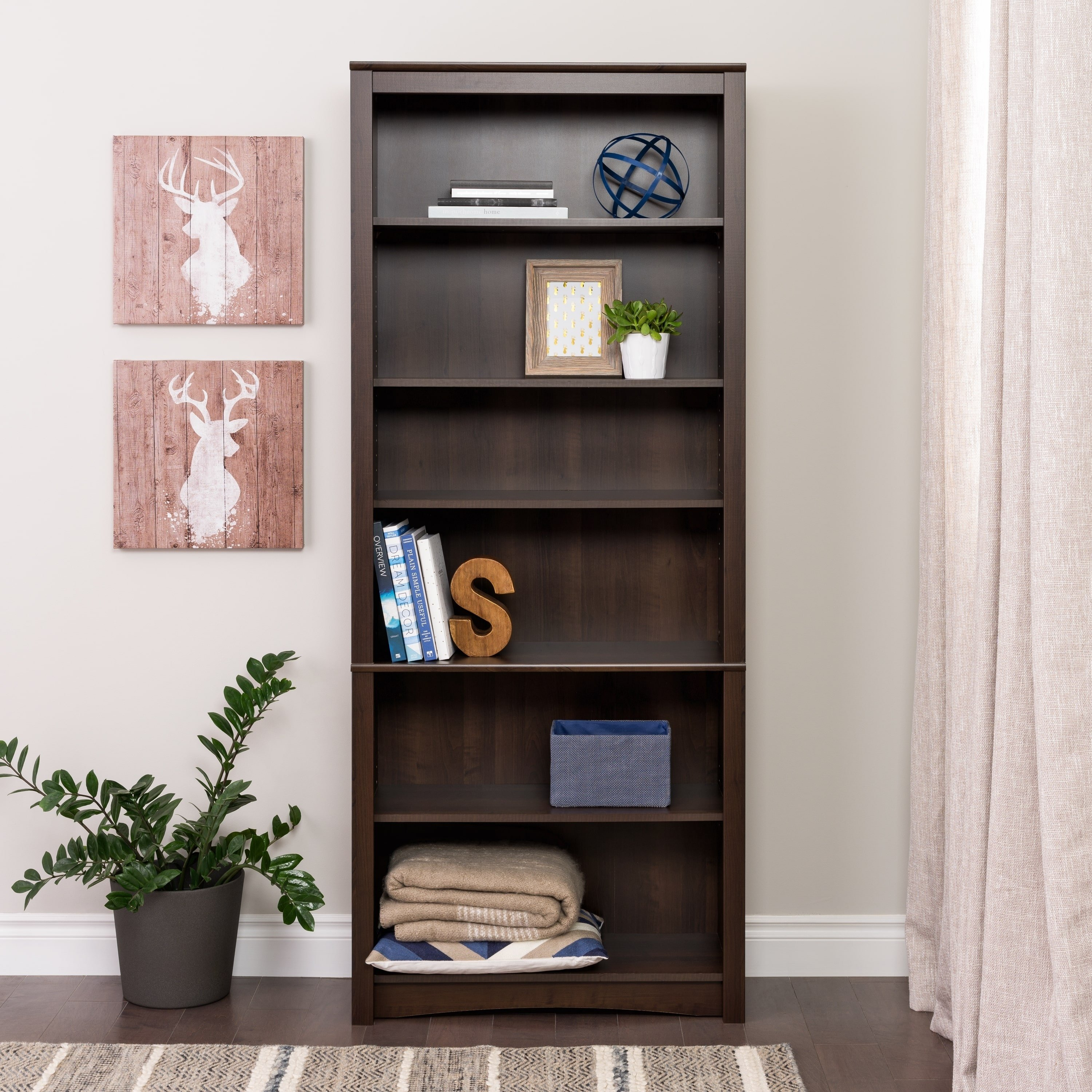 Buy Bookshelves & Bookcases Online At Overstock | Our Best Inside Annabelle Cream 70 Inch Tv Stands (View 18 of 30)