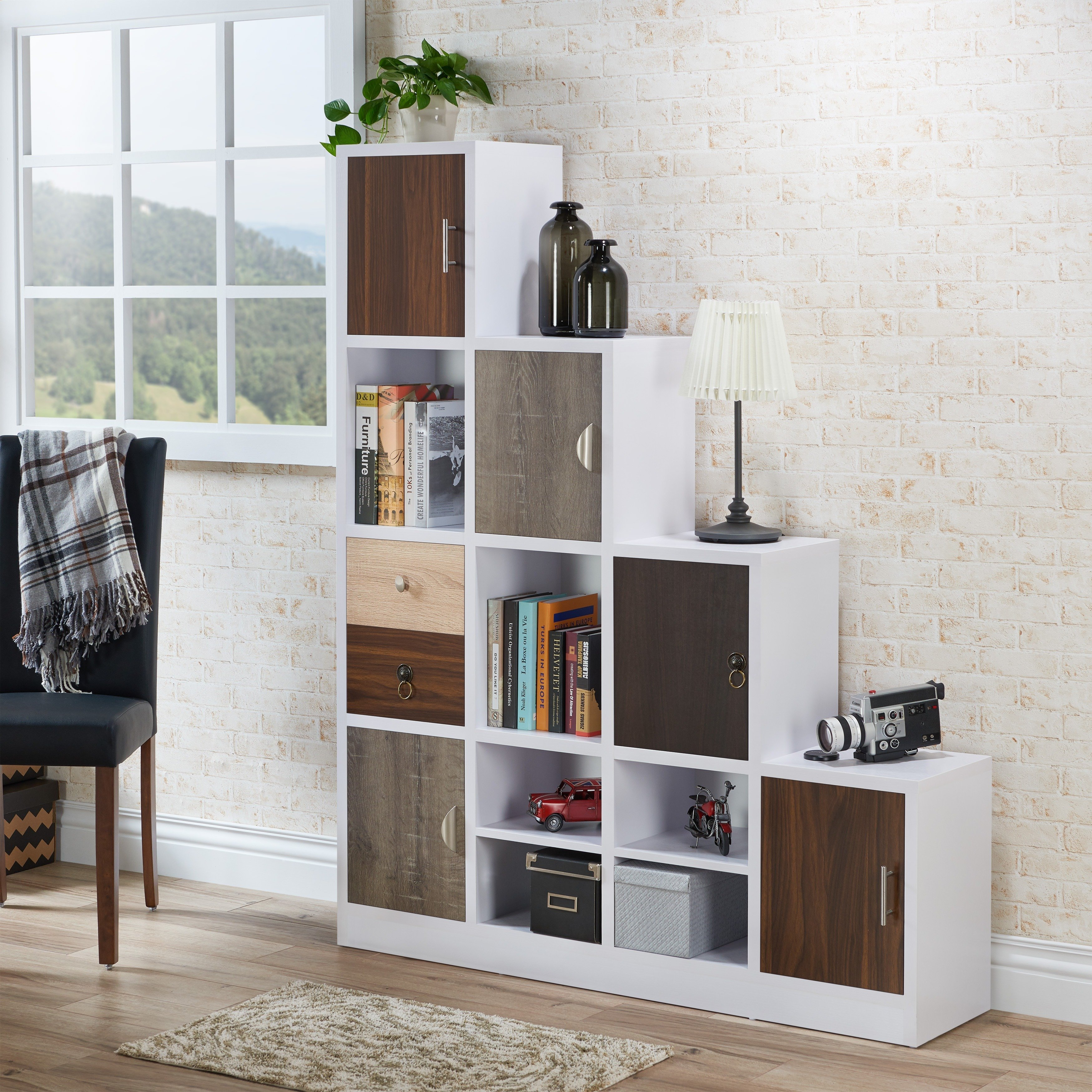 Buy Bookshelves & Bookcases Online At Overstock | Our Best With Noah Rustic White 66 Inch Tv Stands (View 7 of 30)