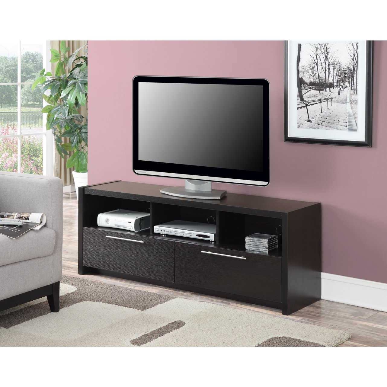 Buy Brown, Modern & Contemporary Tv Stands & Entertainment Centers Regarding Rowan 74 Inch Tv Stands (View 20 of 30)