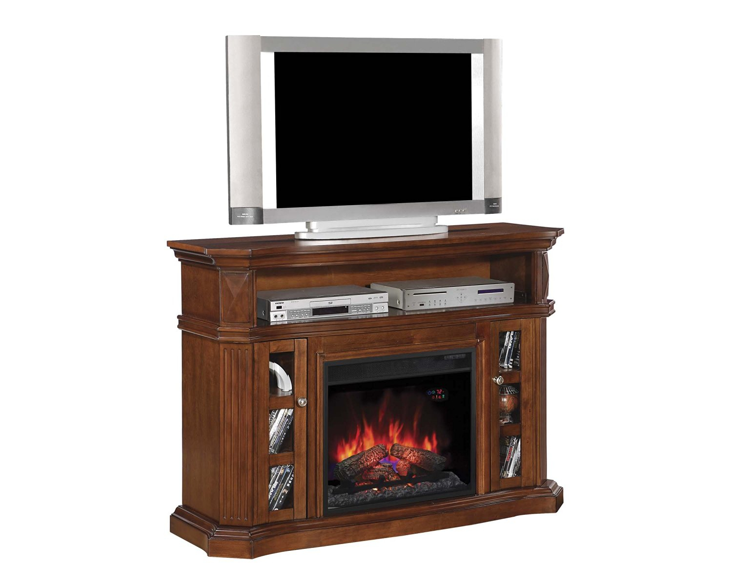 Buy Classicflame 26mms9626 Nw145 Enterprise Tv Stand With Speakers With Regard To Dixon White 65 Inch Tv Stands (View 13 of 30)