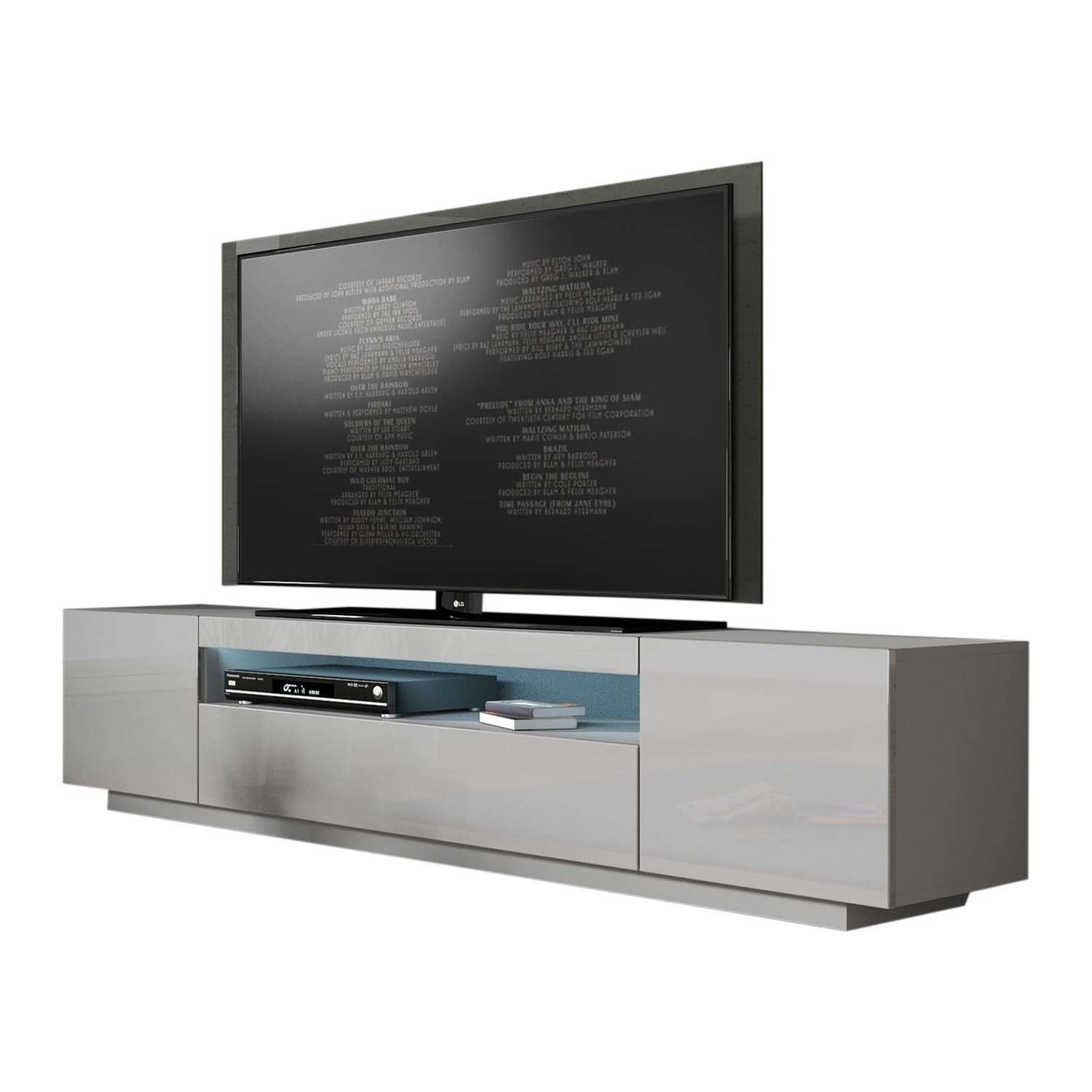 Buy Grey, 42 - 60 Inches Tv Stands & Entertainment Centers Online At for Rowan 64 Inch Tv Stands (Image 5 of 30)
