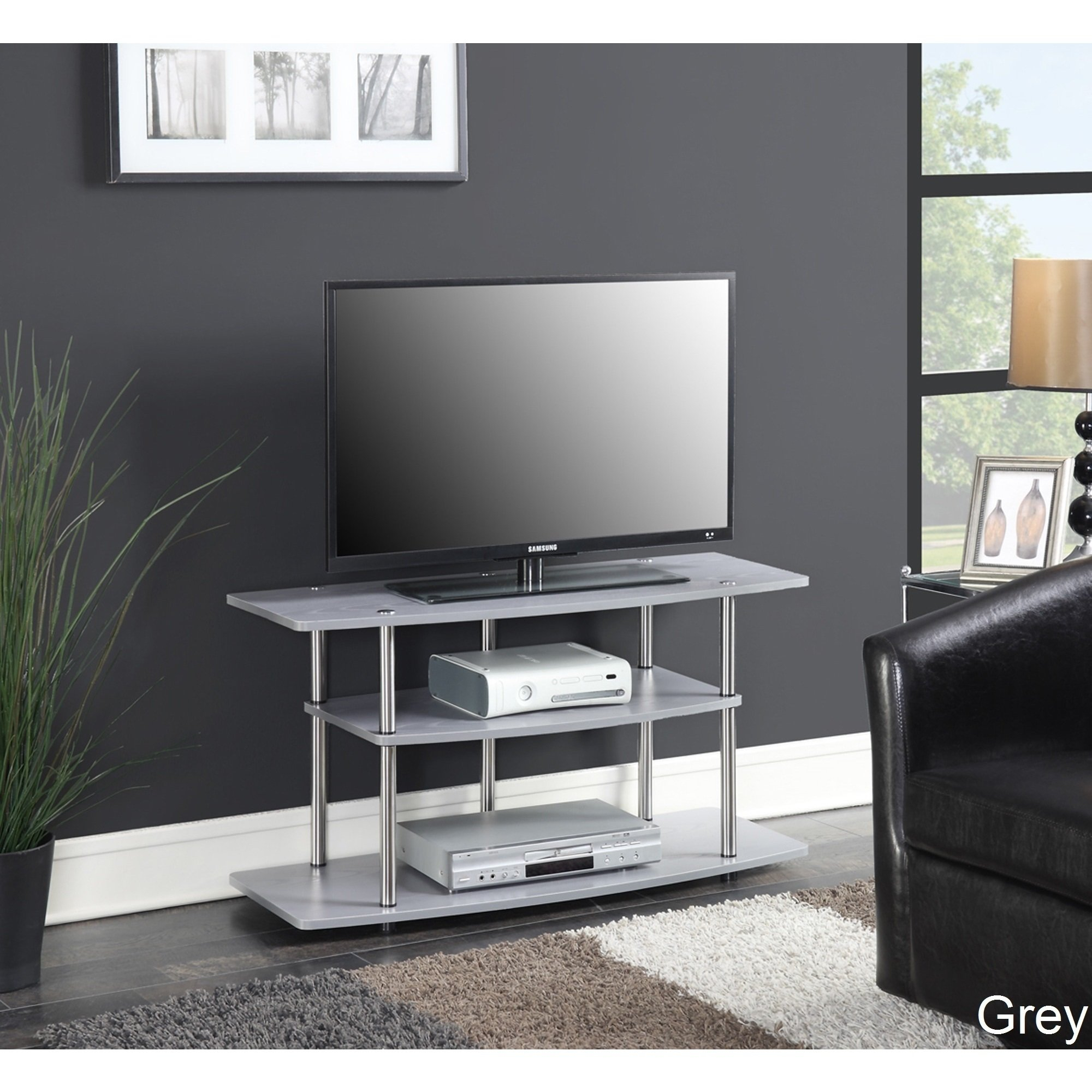 Buy Grey, 42 - 60 Inches Tv Stands & Entertainment Centers Online At for Rowan 74 Inch Tv Stands (Image 5 of 30)