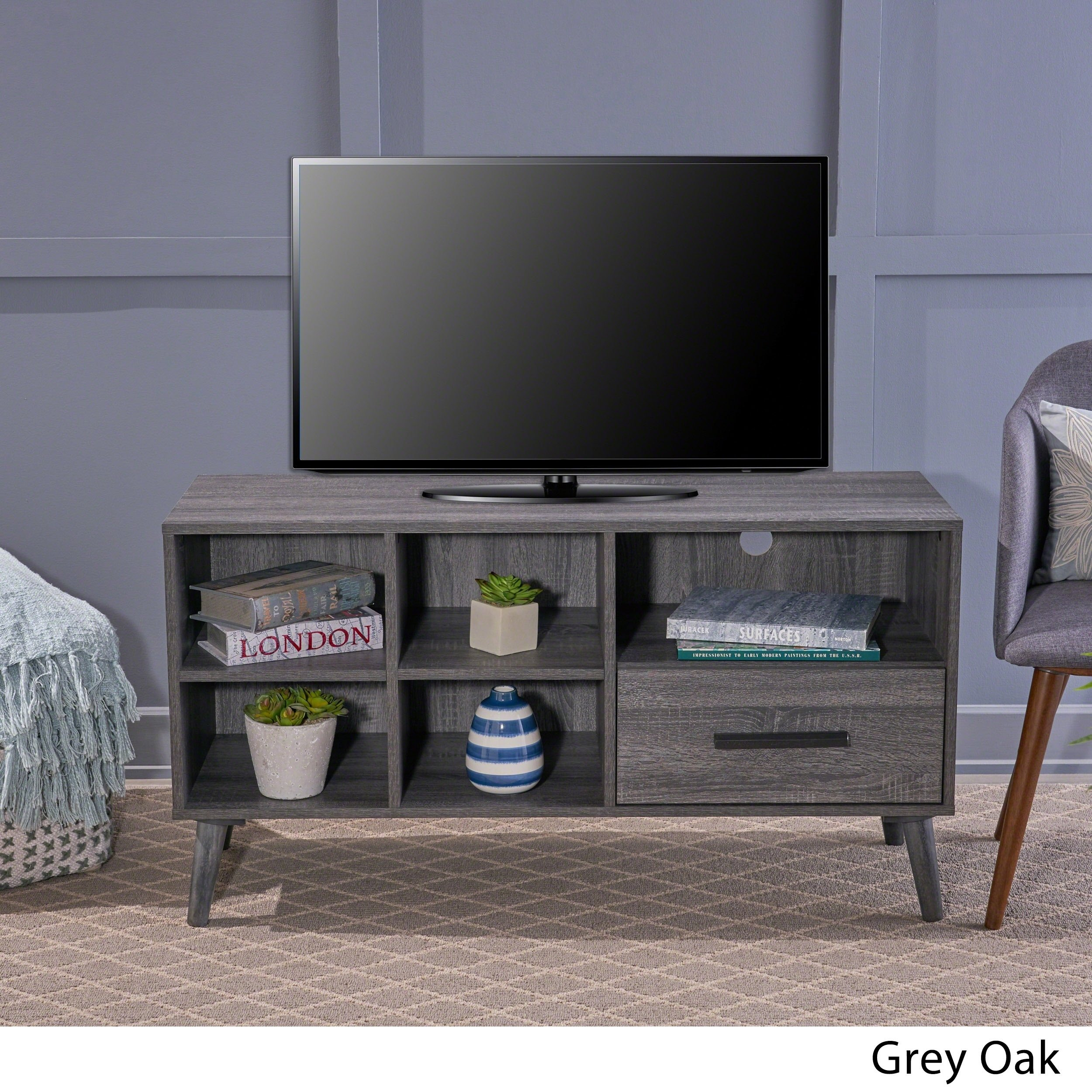 Buy Grey, 42 - 60 Inches Tv Stands & Entertainment Centers Online At pertaining to Rowan 64 Inch Tv Stands (Image 10 of 30)