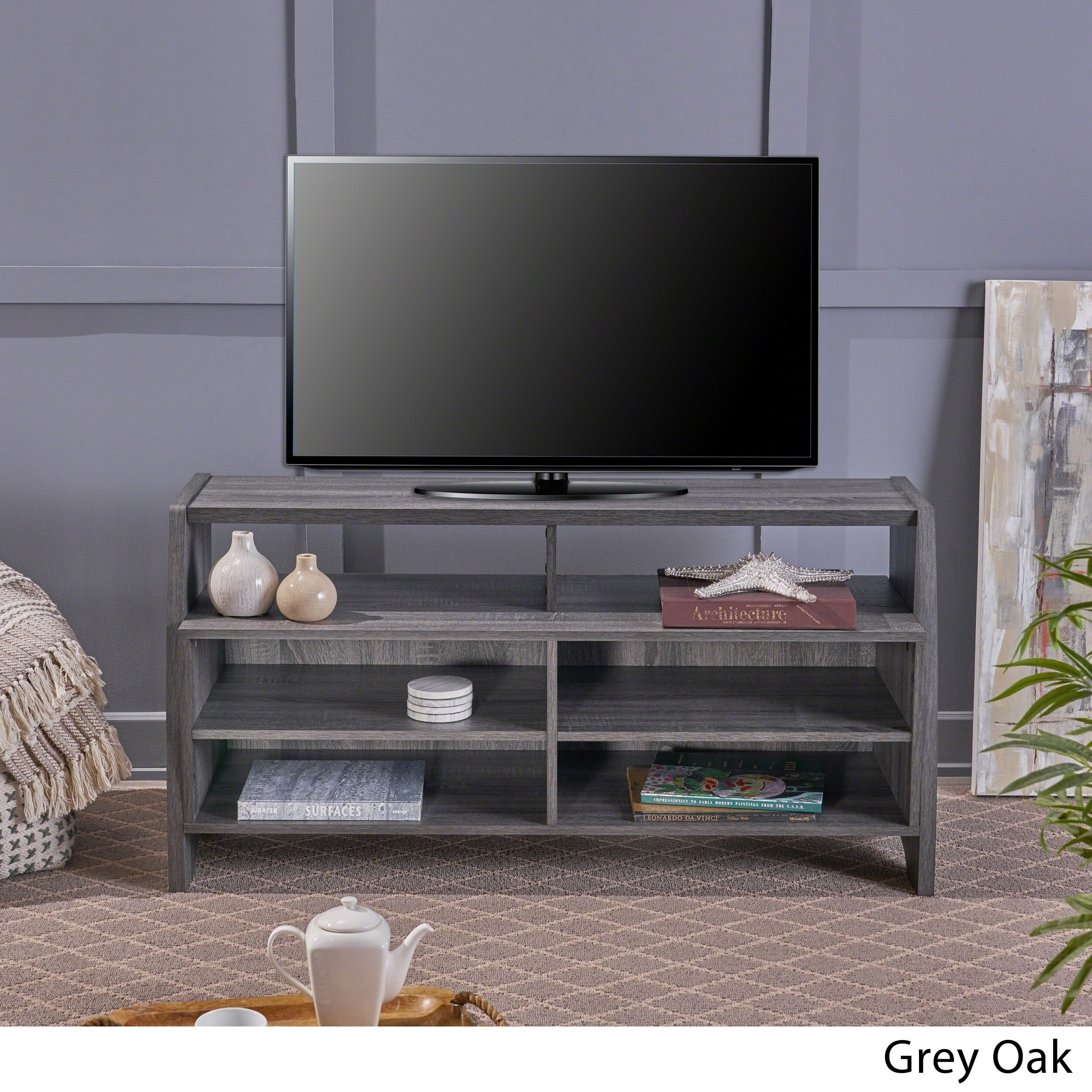 Buy Grey, 42 – 60 Inches Tv Stands & Entertainment Centers Online At With Regard To Rowan 45 Inch Tv Stands (View 22 of 30)