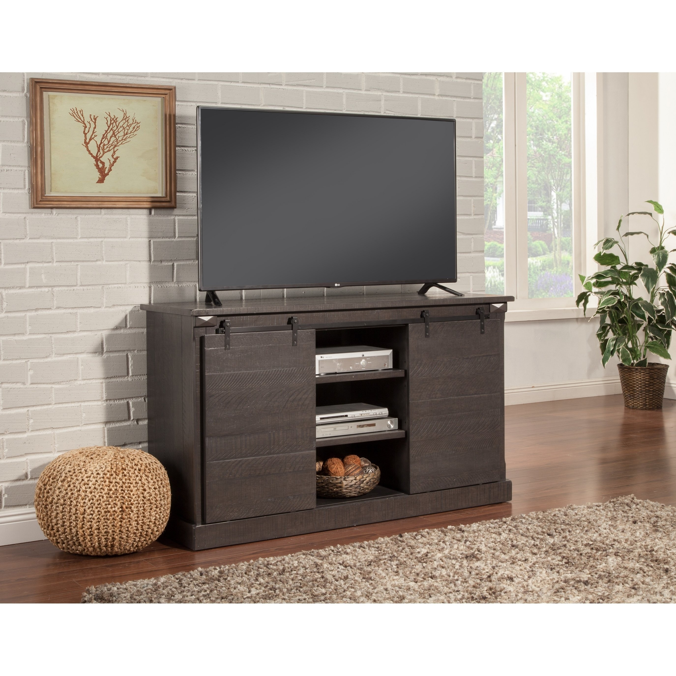 Buy Grey, 42 – 60 Inches Tv Stands & Entertainment Centers Online At With Regard To Rowan 74 Inch Tv Stands (View 11 of 30)