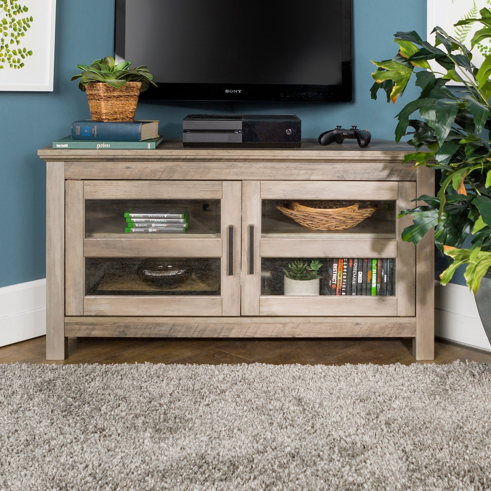 Buy Grey, 42 - 60 Inches Tv Stands & Entertainment Centers Online At within Rowan 64 Inch Tv Stands (Image 12 of 30)
