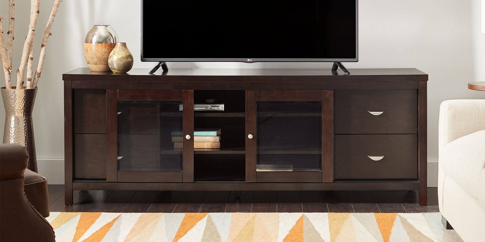 Buy Tv Stands & Entertainment Centers Online At Overstock | Our in Century White 60 Inch Tv Stands (Image 8 of 30)