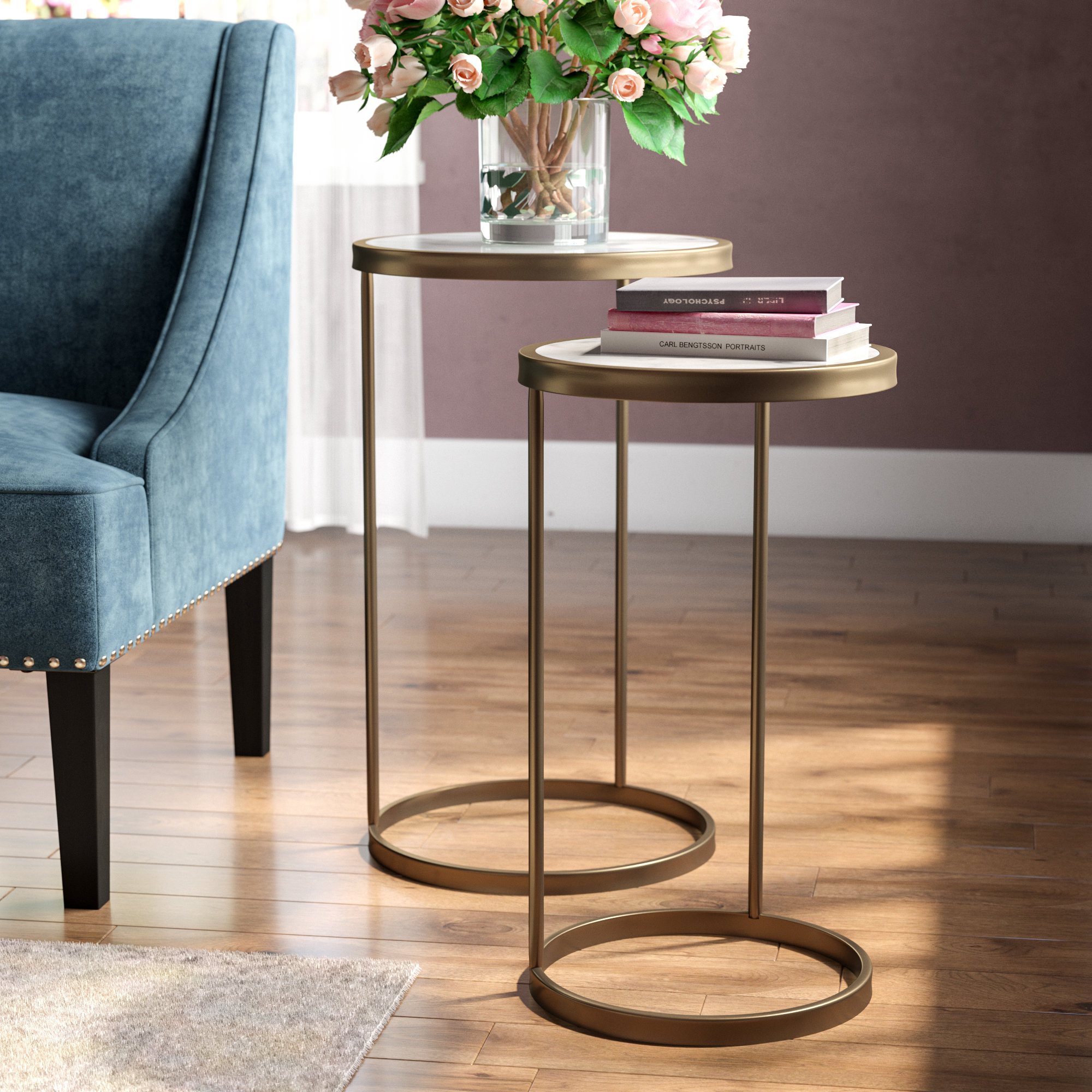 C Tables You'll Love | Wayfair throughout Mix Leather Imprint Metal Frame Console Tables (Image 3 of 30)