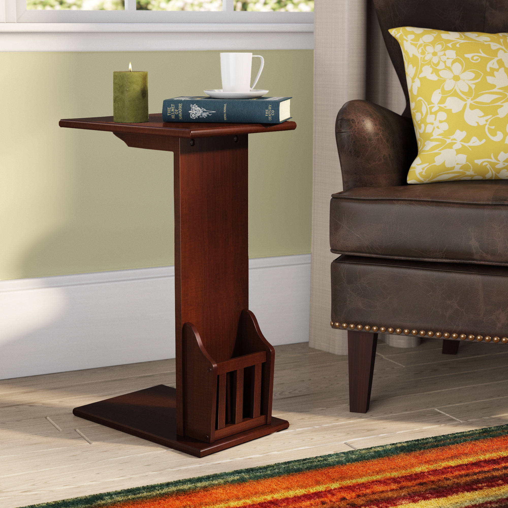 C Tables You'll Love | Wayfair within Mix Leather Imprint Metal Frame Console Tables (Image 4 of 30)