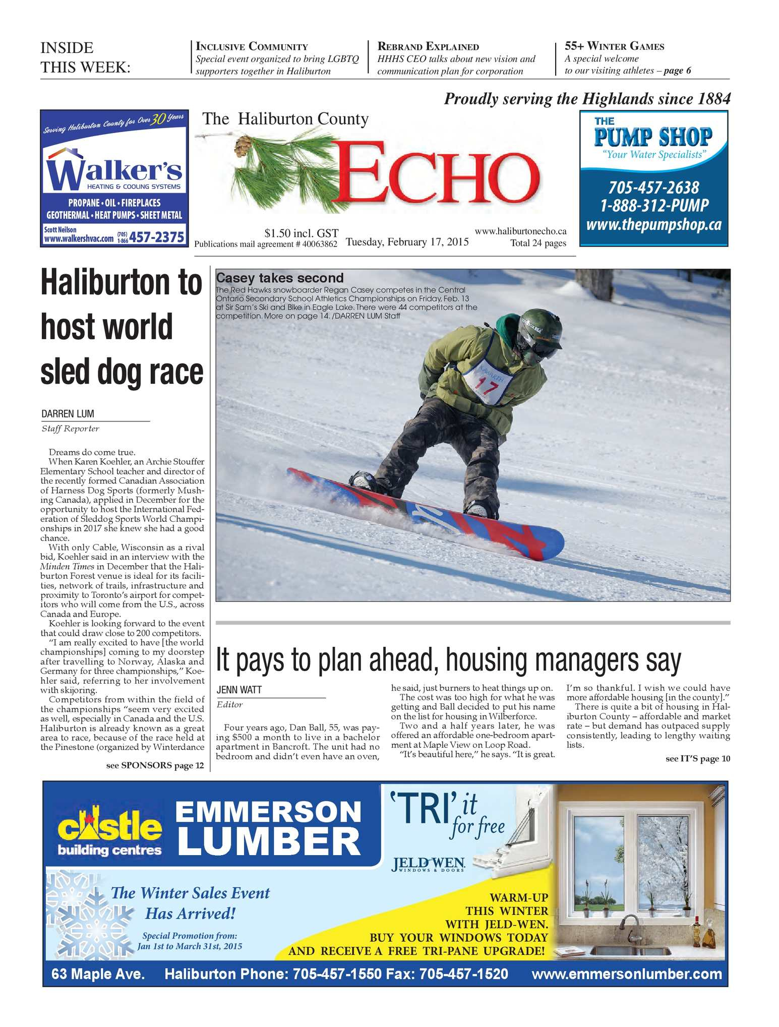 Calaméo – The Haliburton County Echo February 18, 2015 Akduthl1564 Regarding Casey Umber 54 Inch Tv Stands (View 7 of 26)