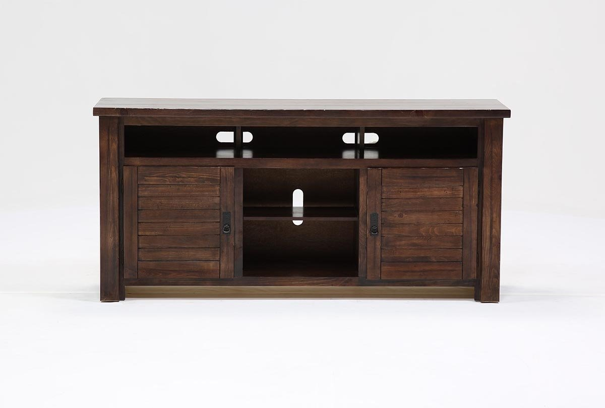Canyon 64 Inch Tv Stand | Living Spaces For Sinclair White 64 Inch Tv Stands (View 10 of 30)