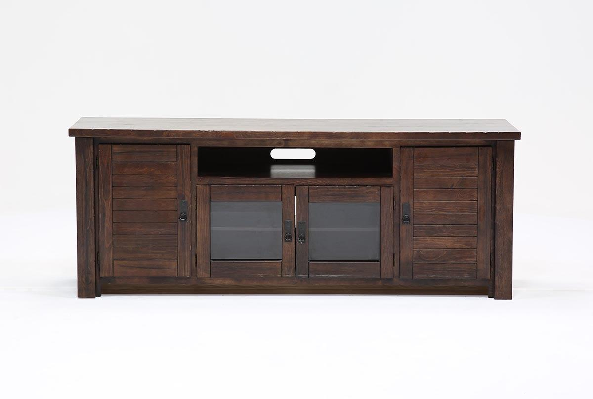 Canyon 74 Inch Tv Stand | Living Spaces With Canyon 64 Inch Tv Stands (View 3 of 30)