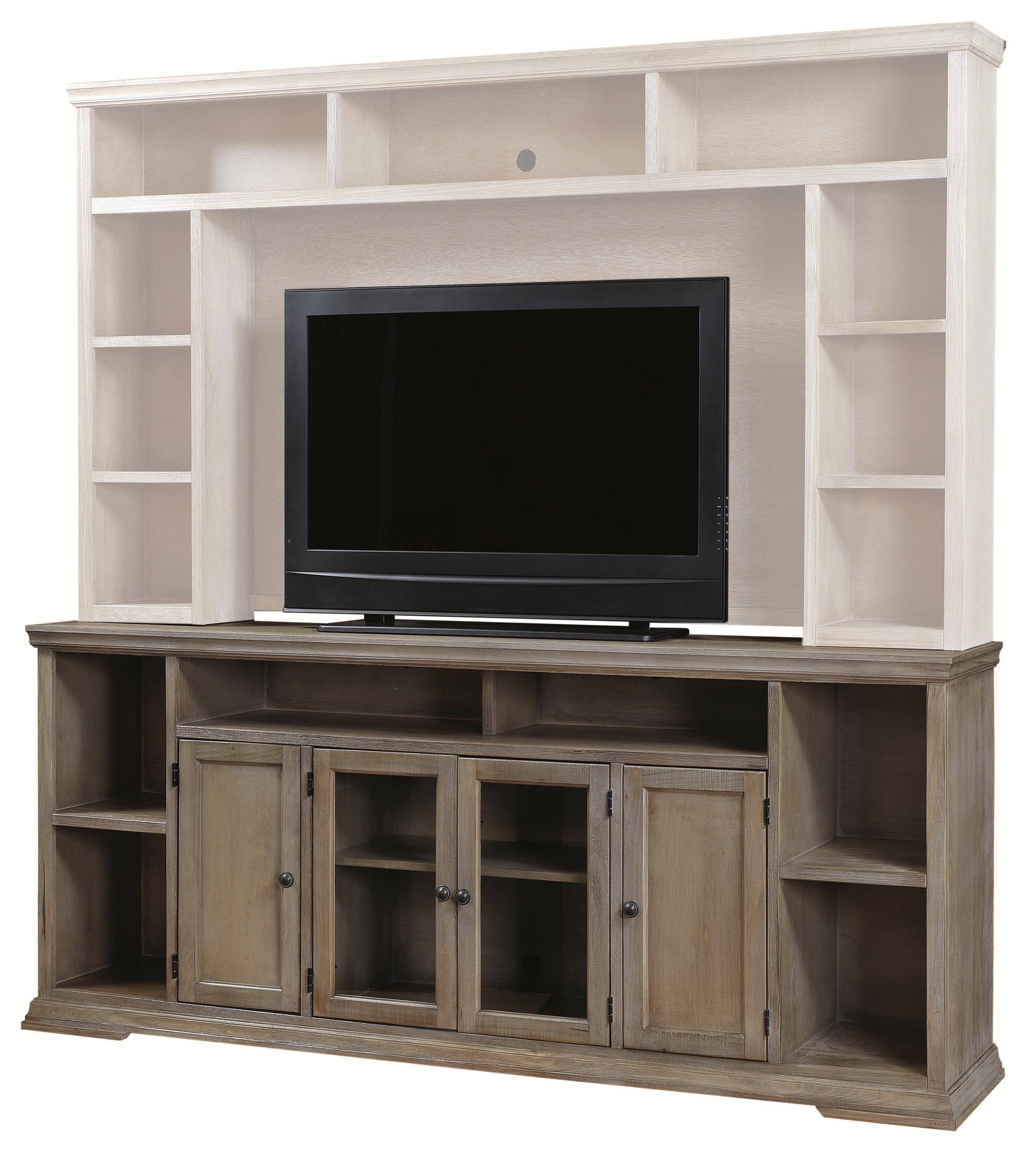 Canyon Creek 84 Inch Tv Console With 4 Doors And Open Shelf Storage With Canyon 54 Inch Tv Stands (View 9 of 30)
