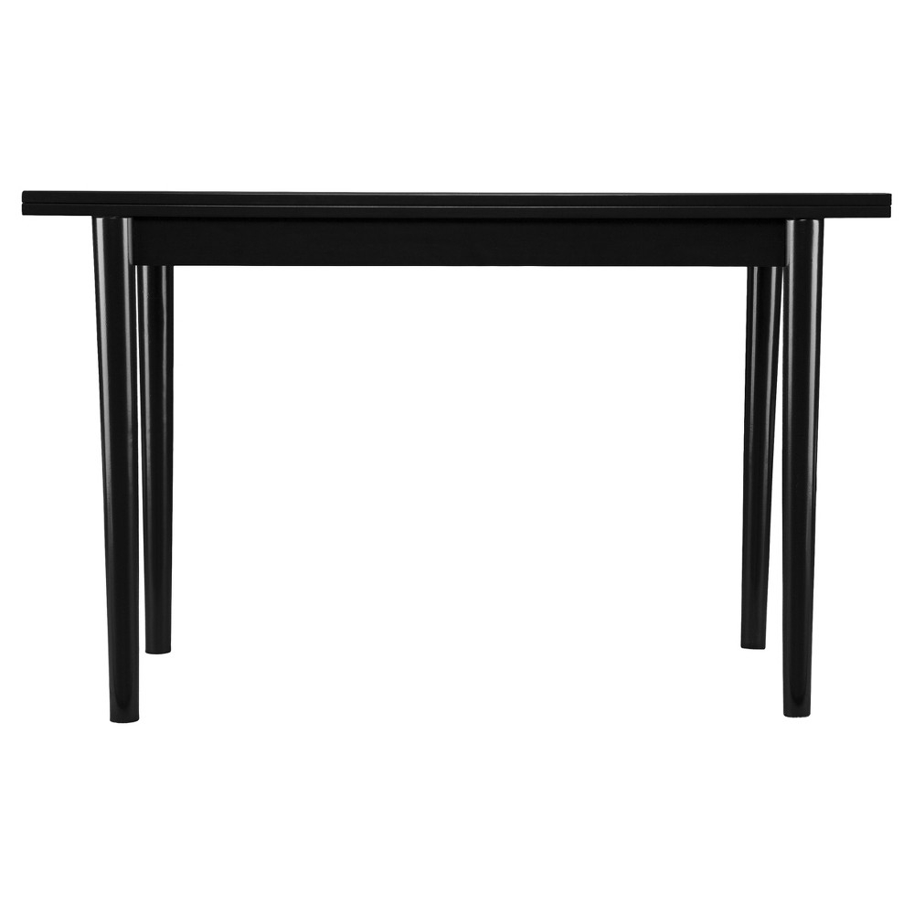 Caplow Flip Top Convertible Console To Dining Table – Black – Aiden In Parsons White Marble Top & Elm Base 48x16 Console Tables (View 14 of 30)