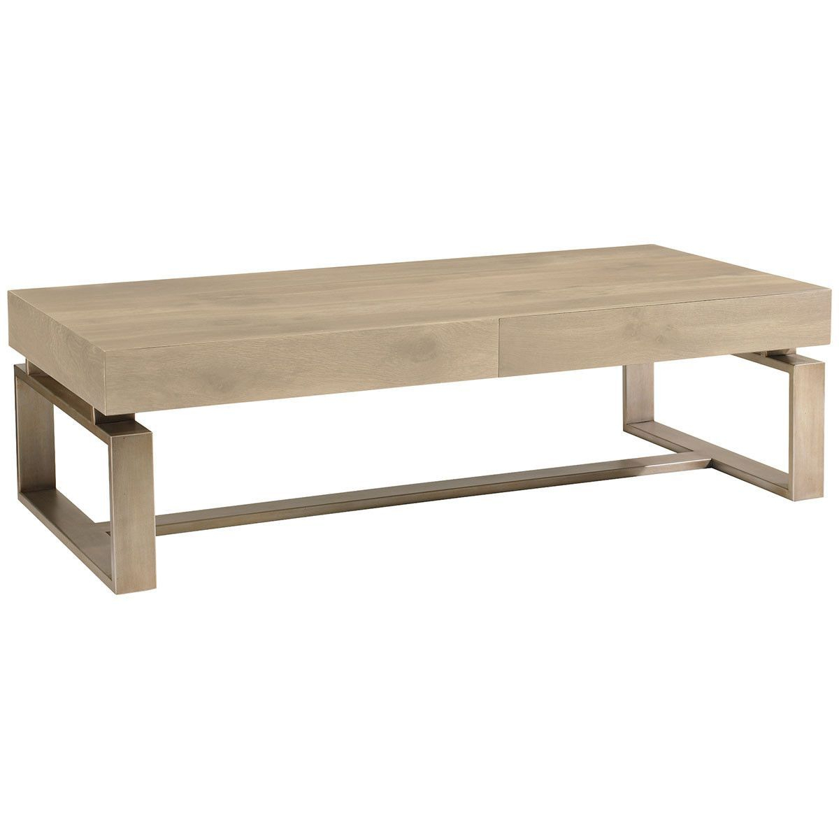 Caracole Artisans Two Drawer Cocktail Table | Sg Living 2 | Pinterest Inside Parsons Travertine Top & Elm Base 48x16 Console Tables (View 17 of 30)