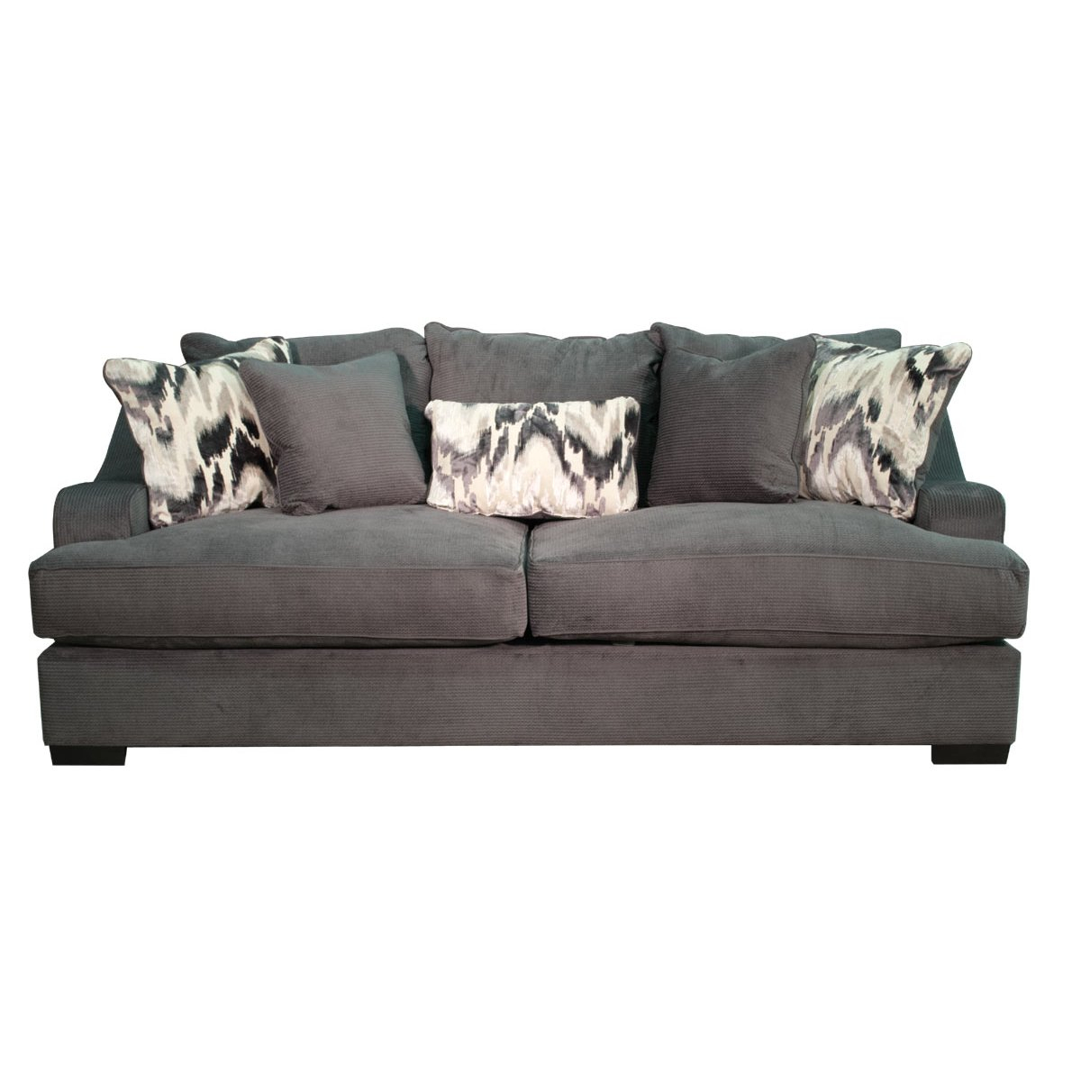 Casual Modern Charcoal Gray Sofa – Spartan | Rc Willey Furniture Store Within Raven Grey Tv Stands (View 21 of 30)