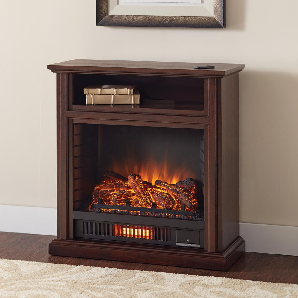 Cherry – Fireplace Tv Stands – Electric Fireplaces – The Home Depot For Sinclair White 64 Inch Tv Stands (View 20 of 30)