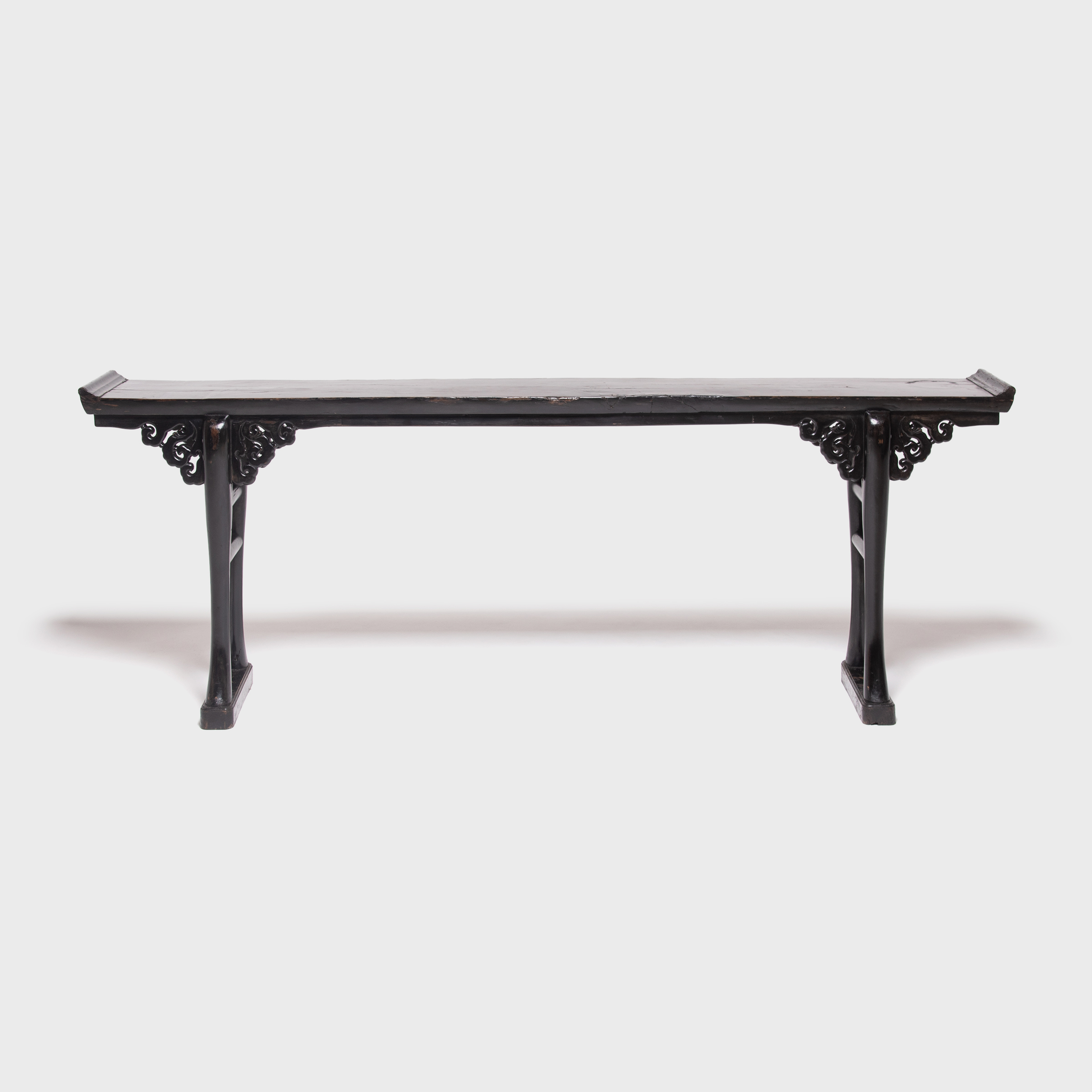 Chinese Tables And Antique Chinese Tables | Pagoda Red With Era Limestone Console Tables (View 10 of 30)