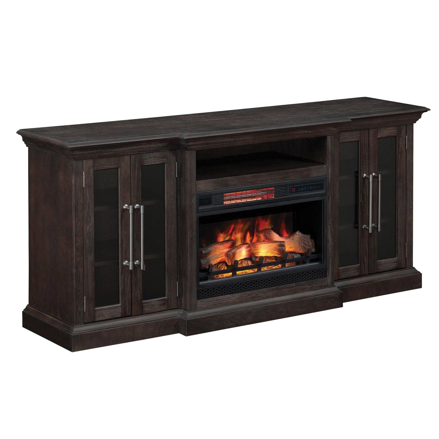 Classic Flame Grand Media Mantle | Fireplace Tv Stands | Afw | Afw Inside Kenzie 72 Inch Open Display Tv Stands (View 22 of 30)