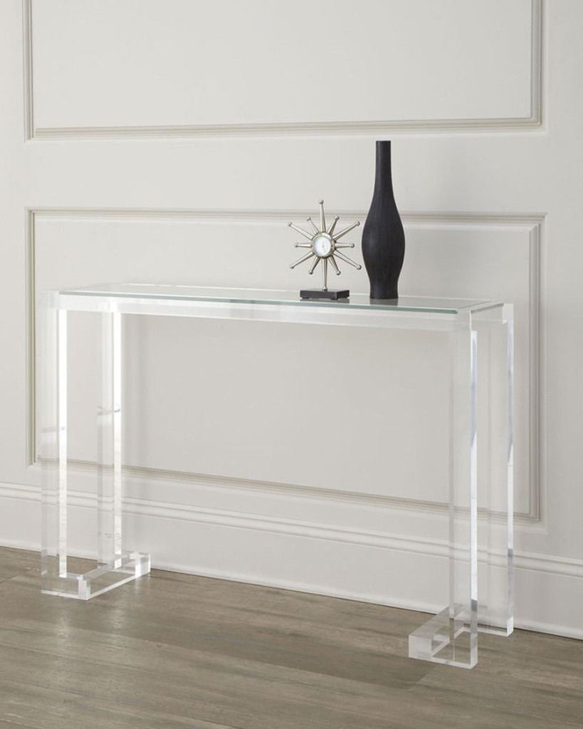 Clear Narrow Depth Console Table : Console Table – Favorite Narrow Intended For Echelon Console Tables (View 9 of 30)