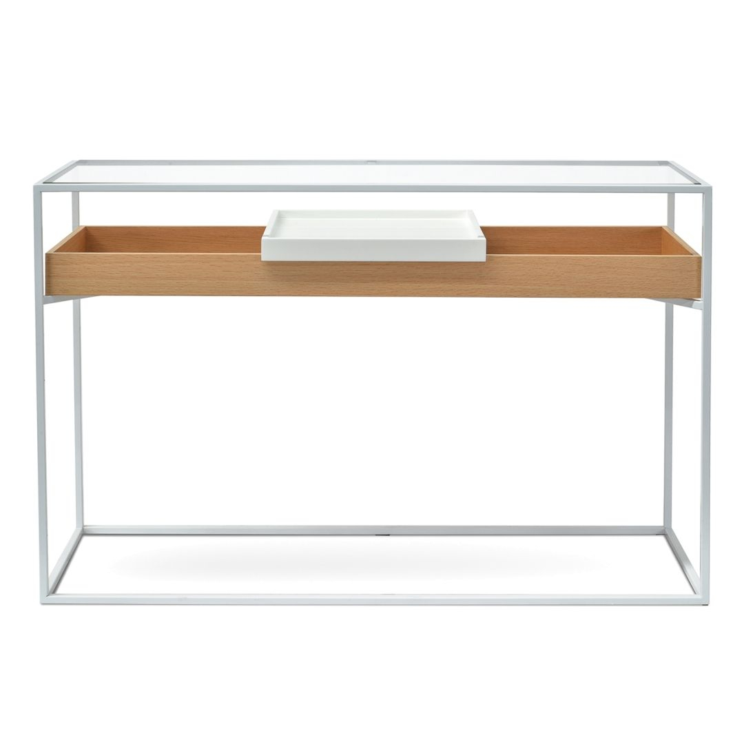 Clifton Metal Frame Console – Oak | Home Inspo – Entry | Pinterest With Frame Console Tables (View 8 of 30)