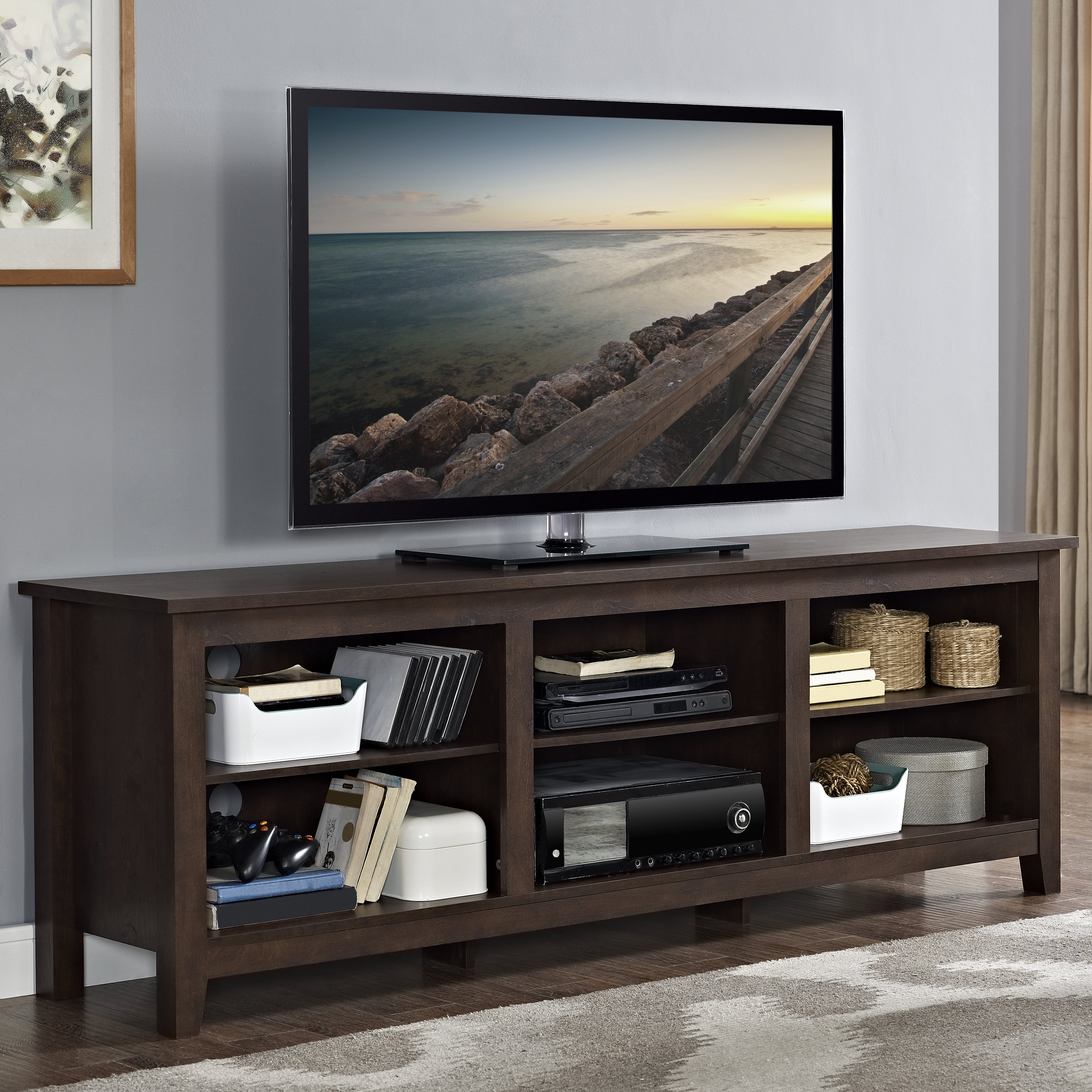 Coffee Table And Tv Stand Set | Wayfair Regarding Gunmetal Media Console Tables (View 24 of 30)