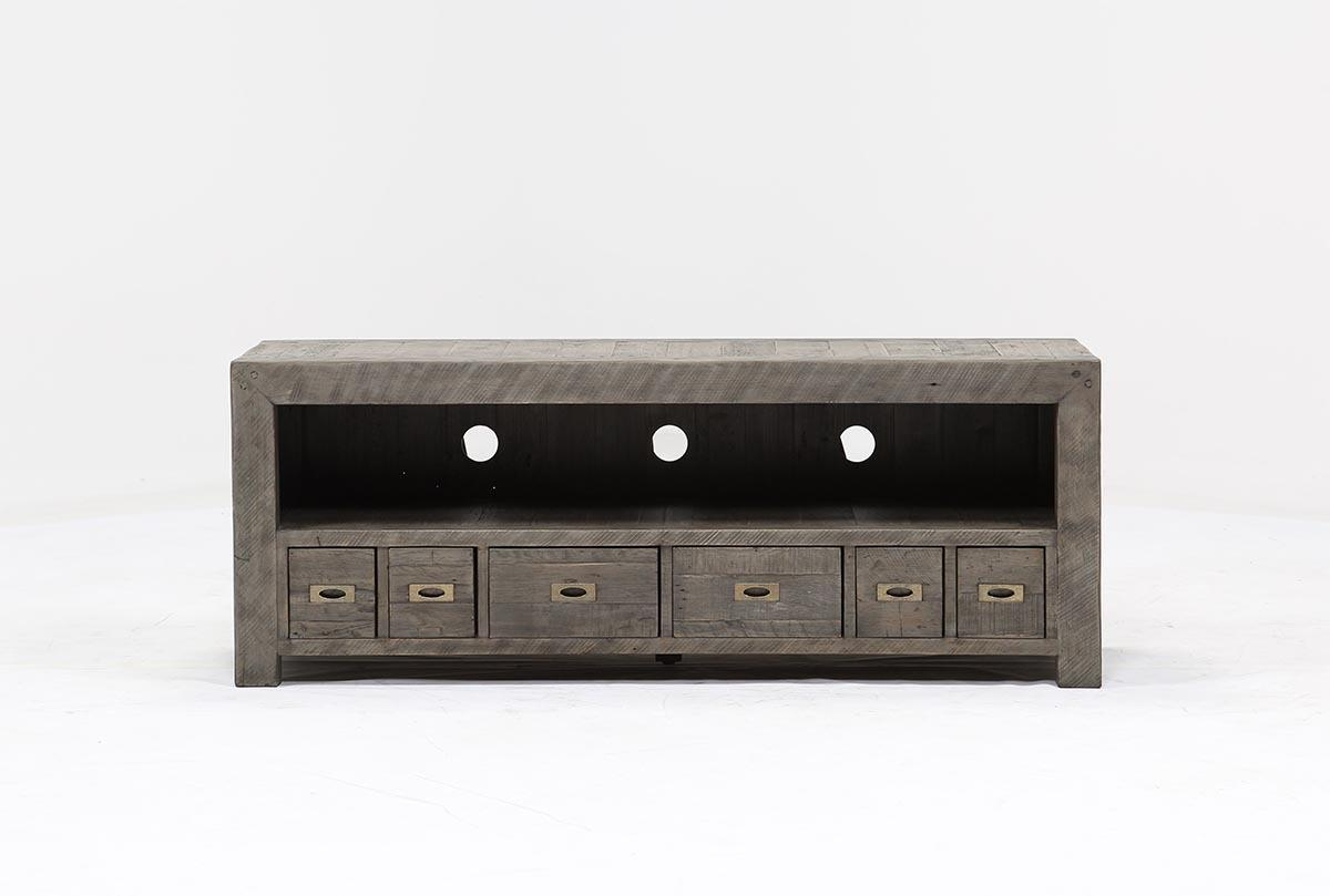 Combs 63 Inch Tv Stand | Living Spaces With Regard To Bale Rustic Grey 82 Inch Tv Stands (View 6 of 30)