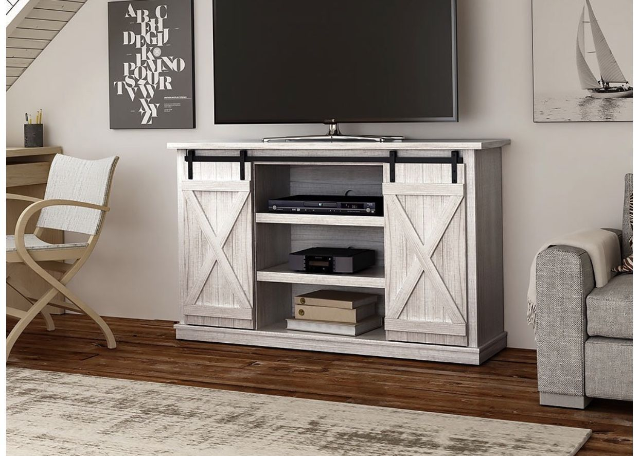 Comfort Smart Wrangler Sliding Barn Door Tv Stand, Sargent Oak Pertaining To Kilian Grey 74 Inch Tv Stands (View 2 of 30)