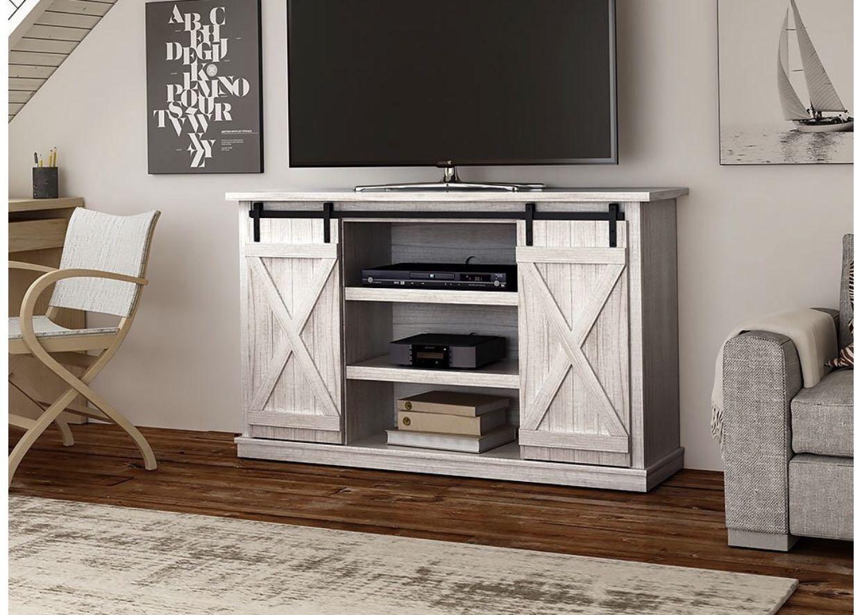 Comfort Smart Wrangler Sliding Barn Door Tv Stand, Sargent Oak With Regard To Kilian Grey 60 Inch Tv Stands (View 3 of 30)