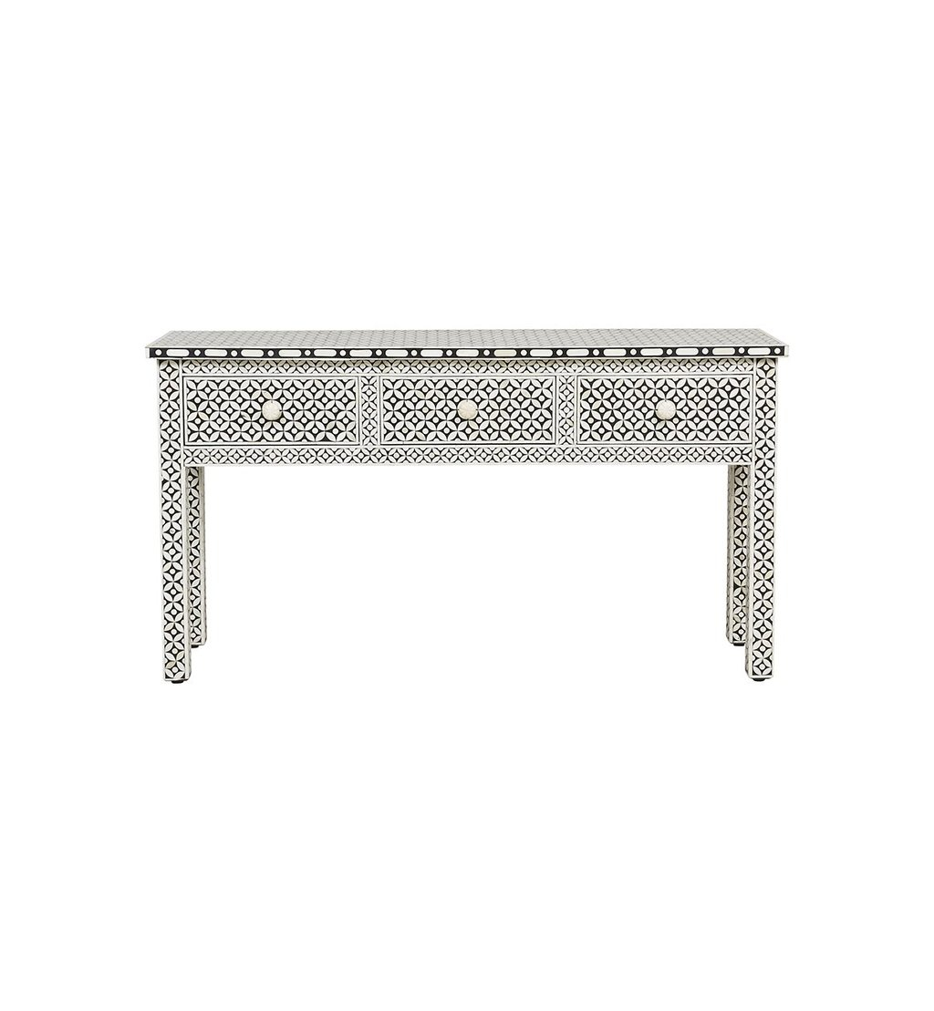 Console Table / Desks 3 Archives – Luxury Handicrafts | Bone Inlay Regarding Archive Grey Console Tables (View 14 of 30)