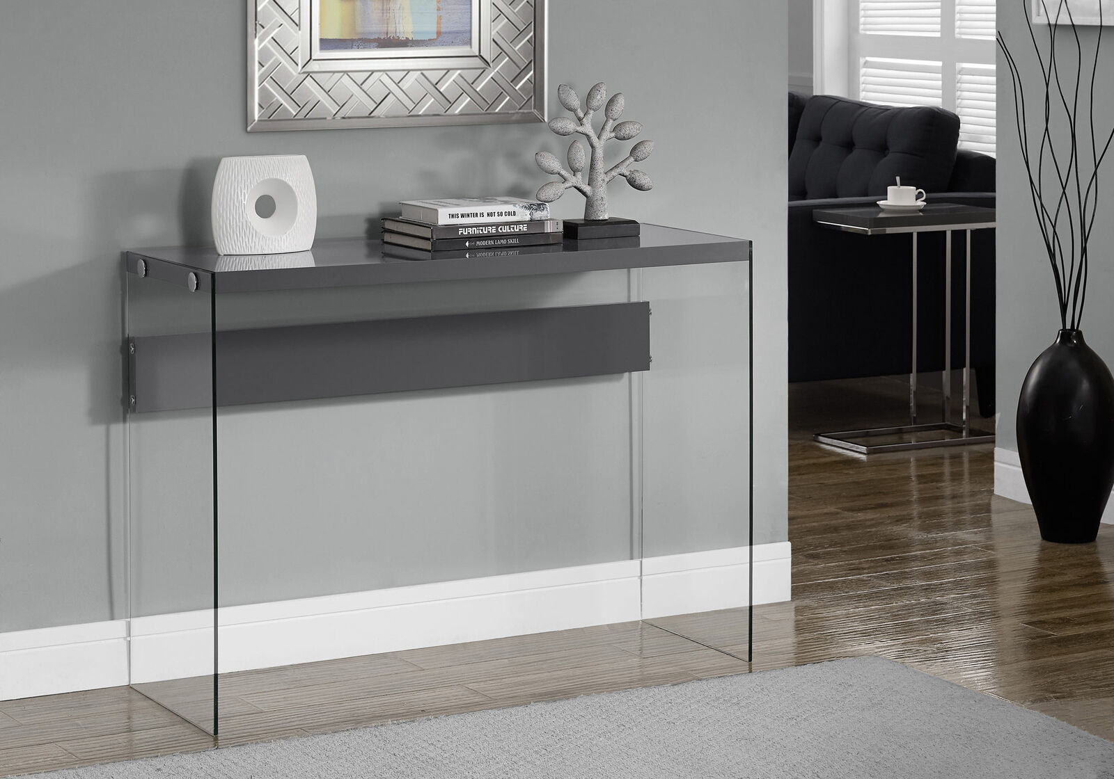 Console Tables For Entryway Behind Sofa Storage Glass Small Writing intended for Ventana Display Console Tables (Image 11 of 30)