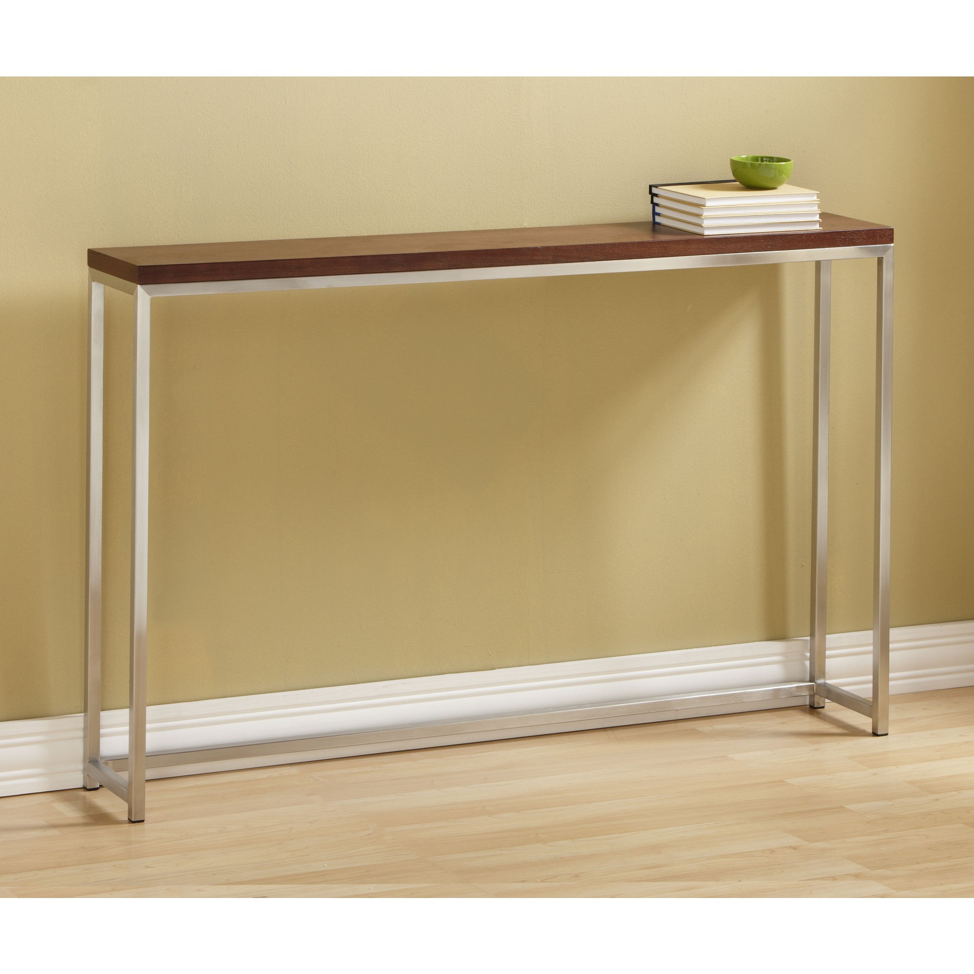 Contemporary Tall Console Table Coe With Varnished Wooden Top And With Regard To Frame Console Tables (View 9 of 30)