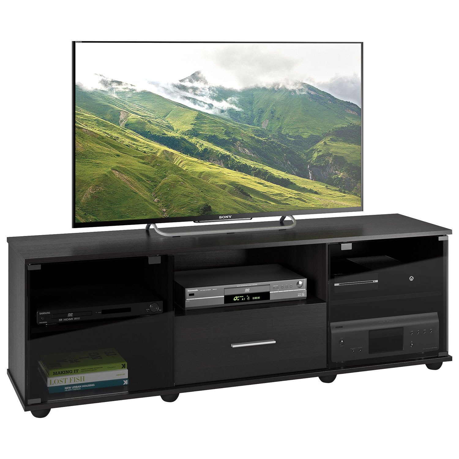 "Corliving Fernbrook 70"" Tv Stand - Black : Tv Stands - Best Buy Canada for Valencia 70 Inch Tv Stands (Image 4 of 30)"