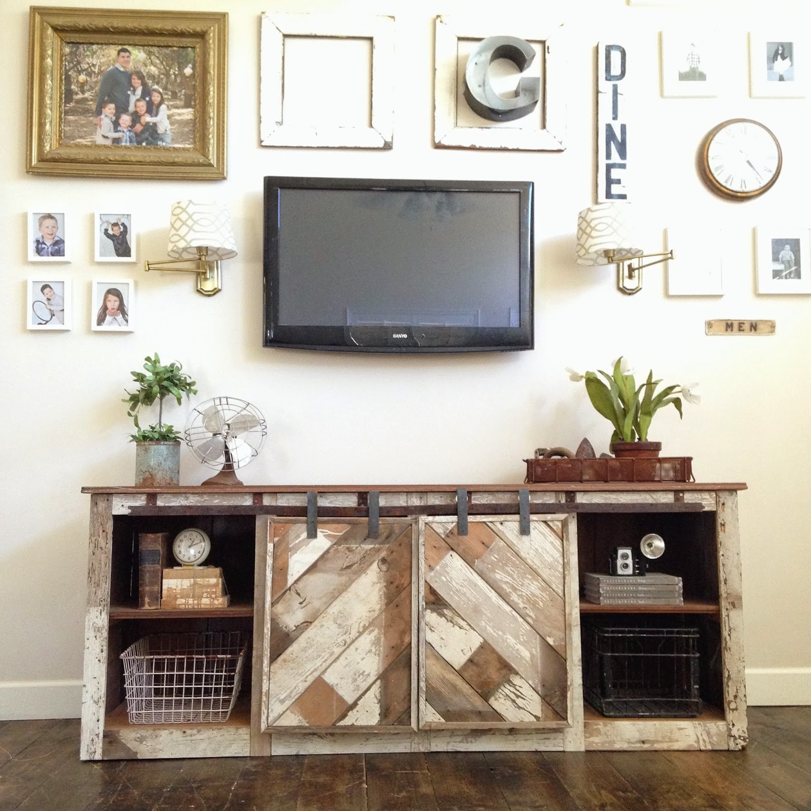 Corner Fireplace Tv Stand For 55 Inch Diy Farmhouse Barn Door Style pertaining to Century White 60 Inch Tv Stands (Image 10 of 30)
