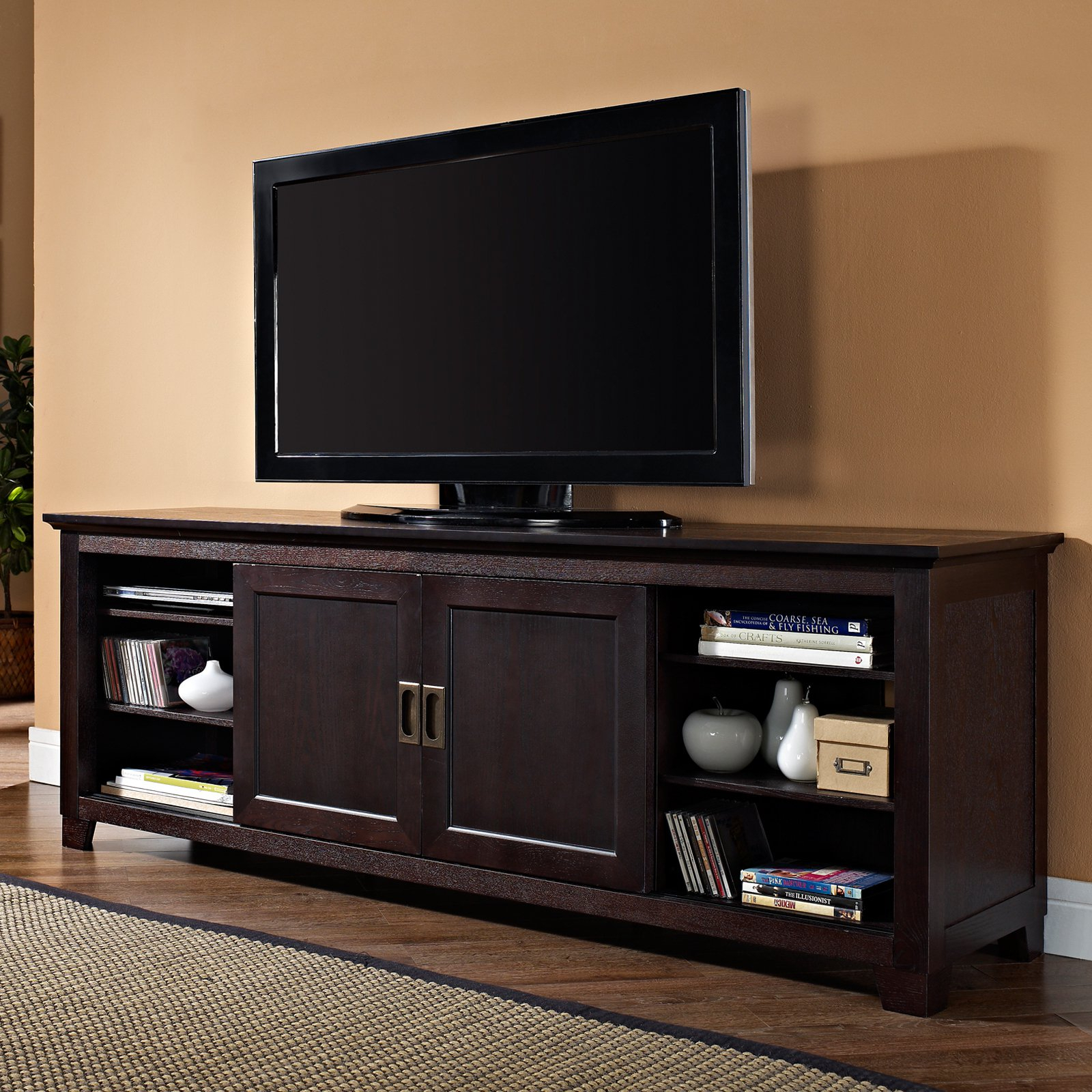 Corner Tv Stands For 70 Inch Tvs - Corner Designs pertaining to Annabelle Black 70 Inch Tv Stands (Image 12 of 30)