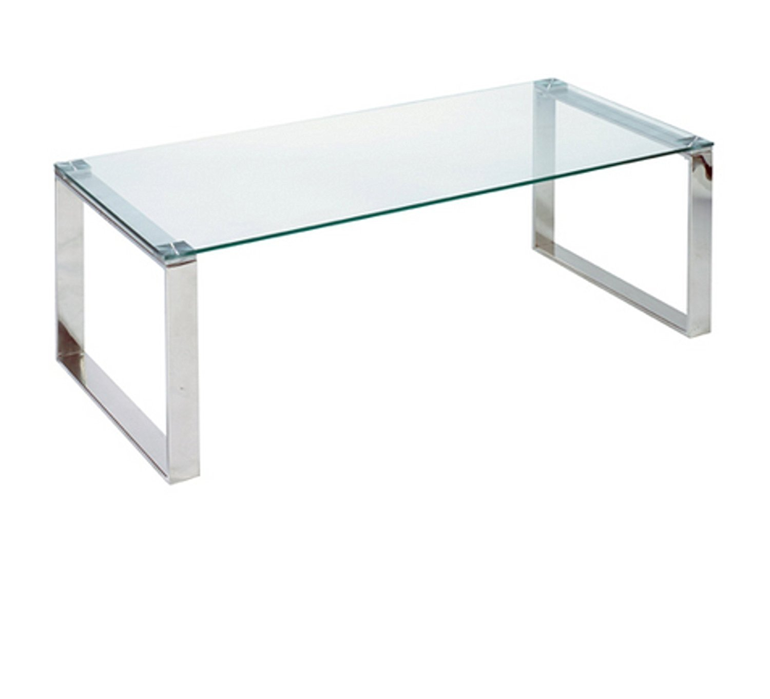Cortesi Home Remi Contemporary Glass Console Table With Chrome In Remi Console Tables (View 19 of 30)