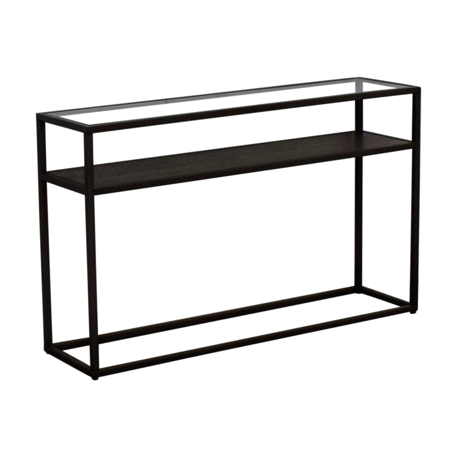 Crate & Barrel Switch Glass Wood And Metal Console Table Pertaining To Switch Console Tables (View 4 of 30)